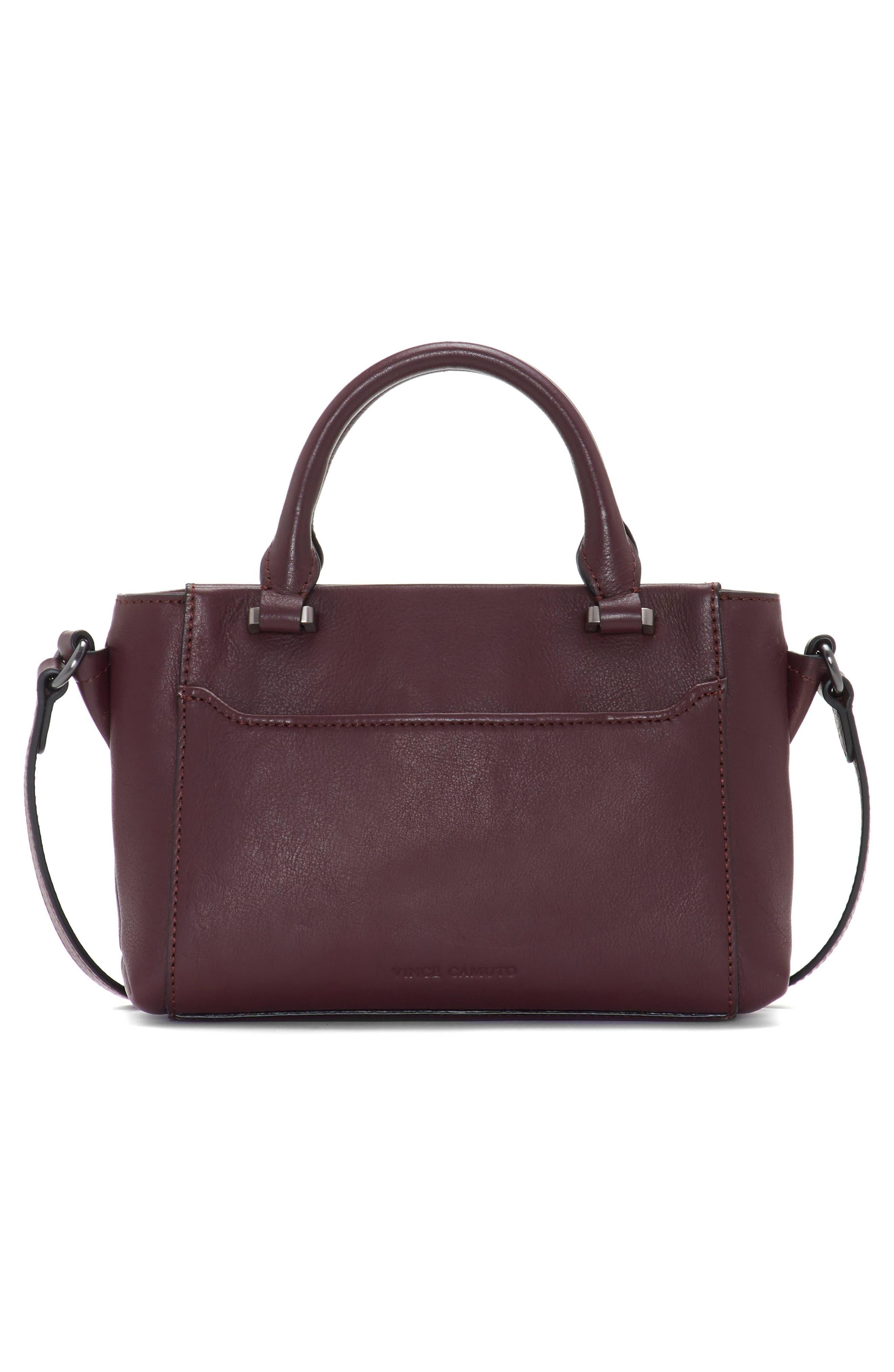 Small Lina Leather Crossbody Bag,                             Alternate thumbnail 2, color,                             VAMP