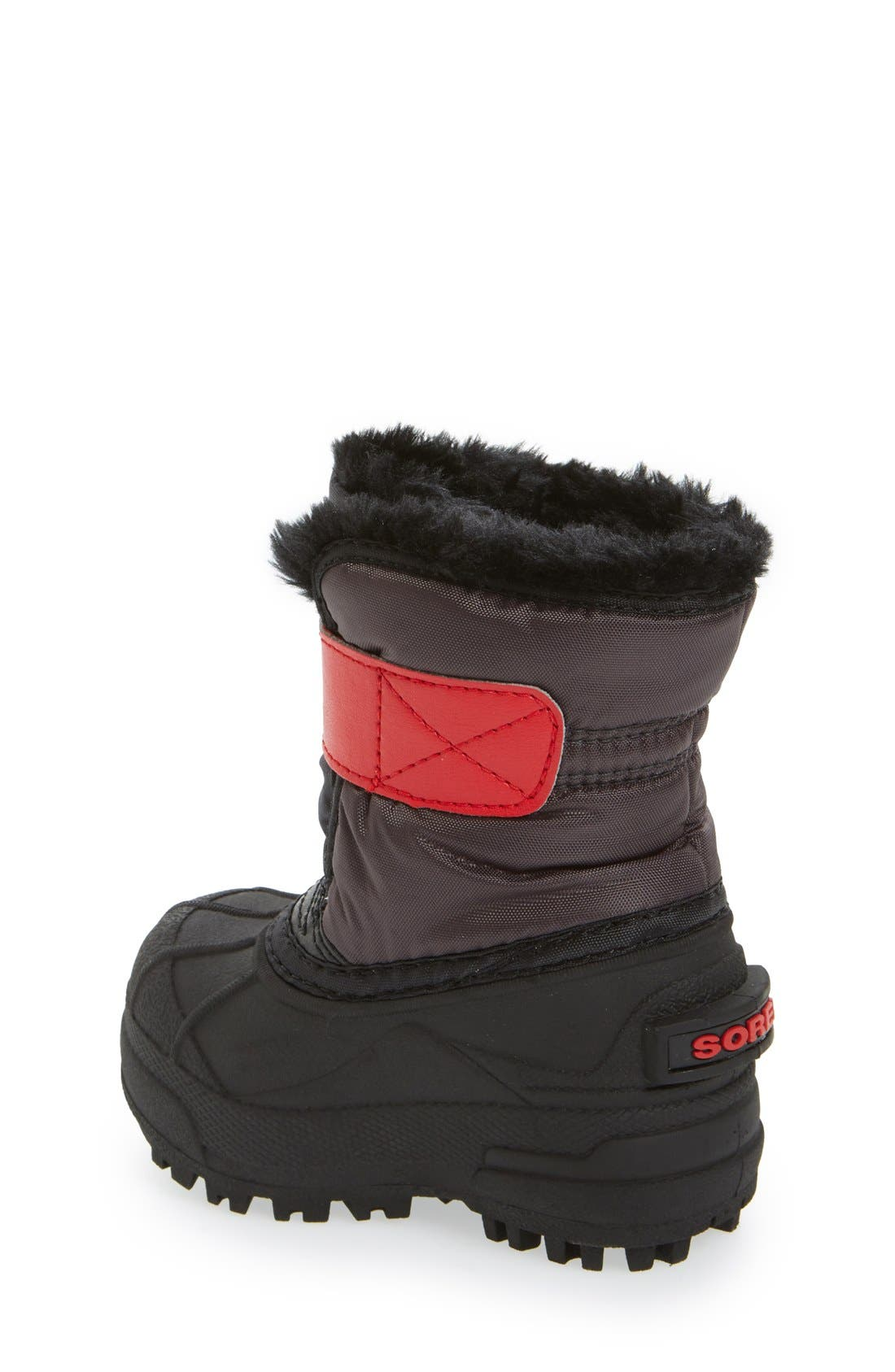 'Snow Commander' Boot,                             Alternate thumbnail 3, color,                             DARK GREY/ BRIGHT RED