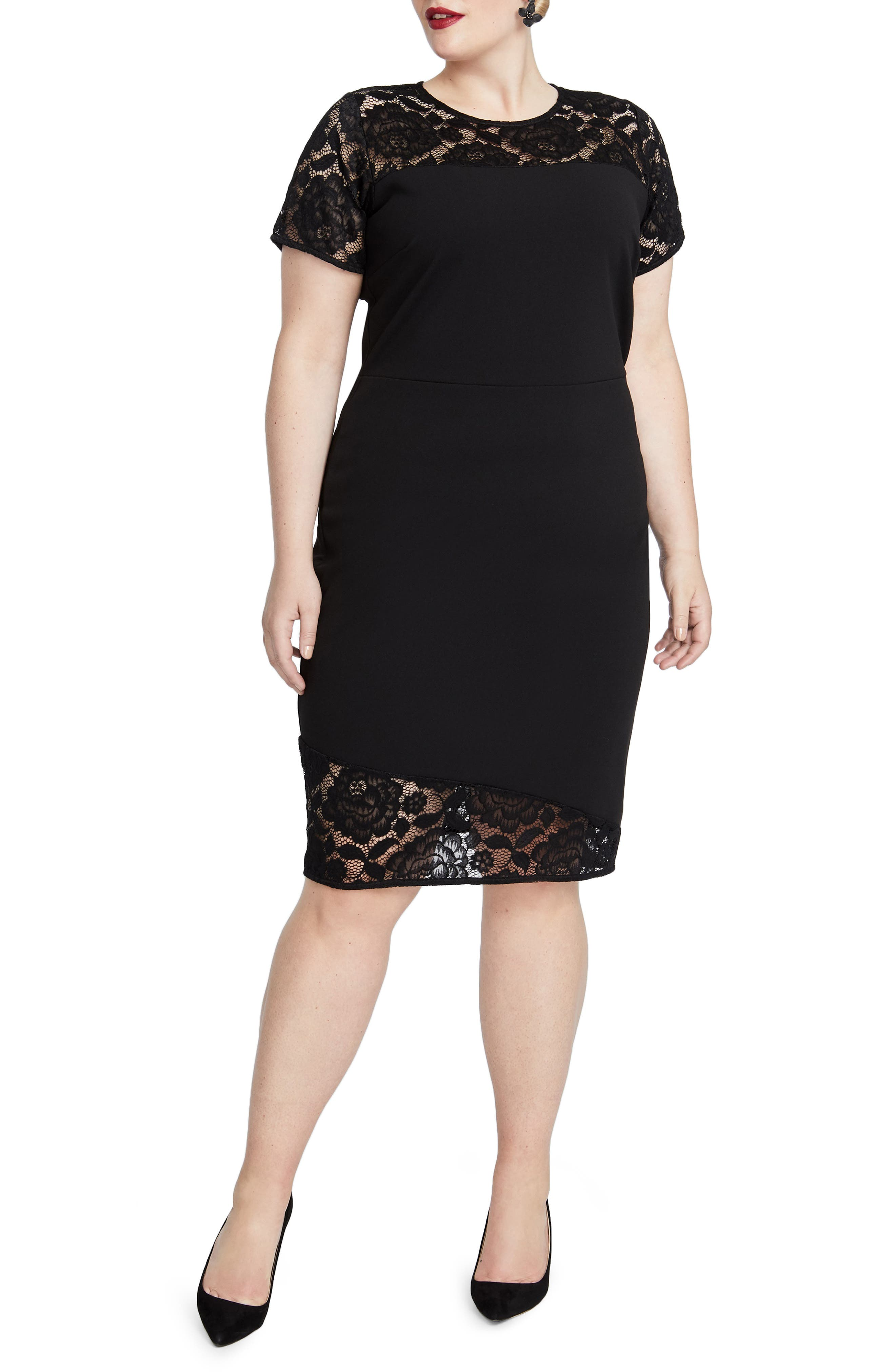 Jamie Lace Dress,                             Main thumbnail 1, color,                             001