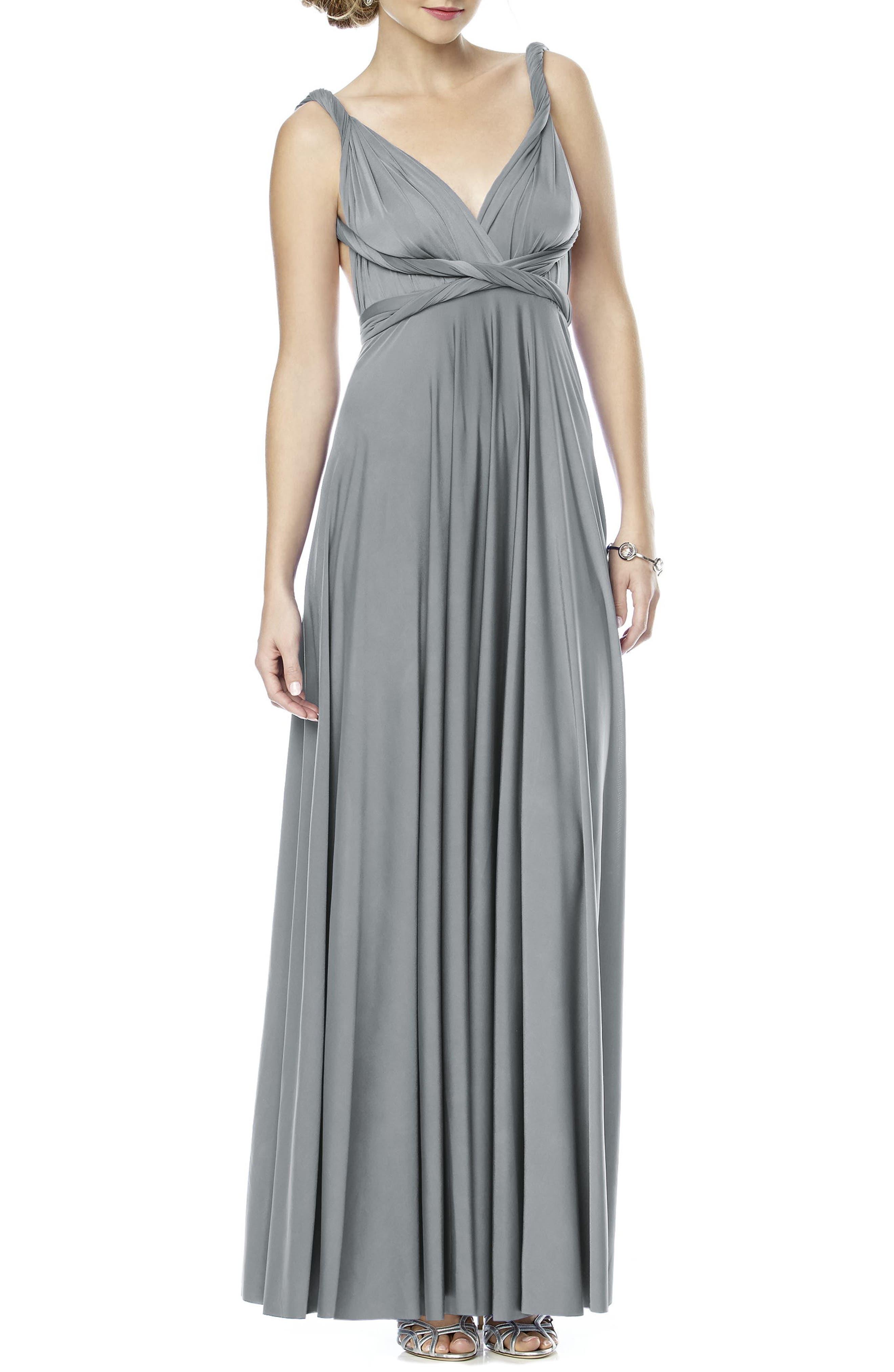 Convertible Wrap Tie Surplice Jersey Gown,                             Alternate thumbnail 3, color,                             033