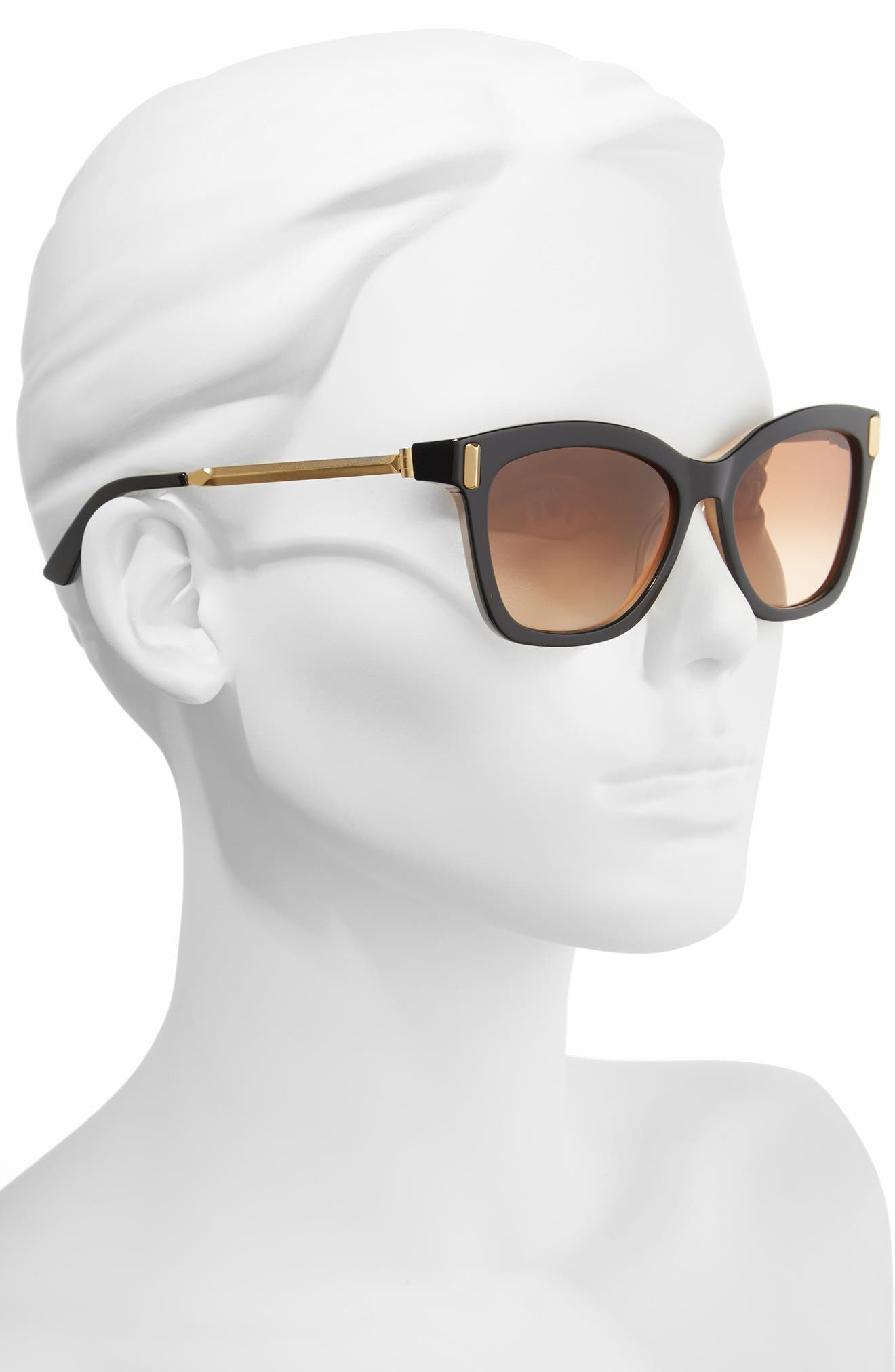 55mm Square Sunglasses,                             Alternate thumbnail 2, color,                             001