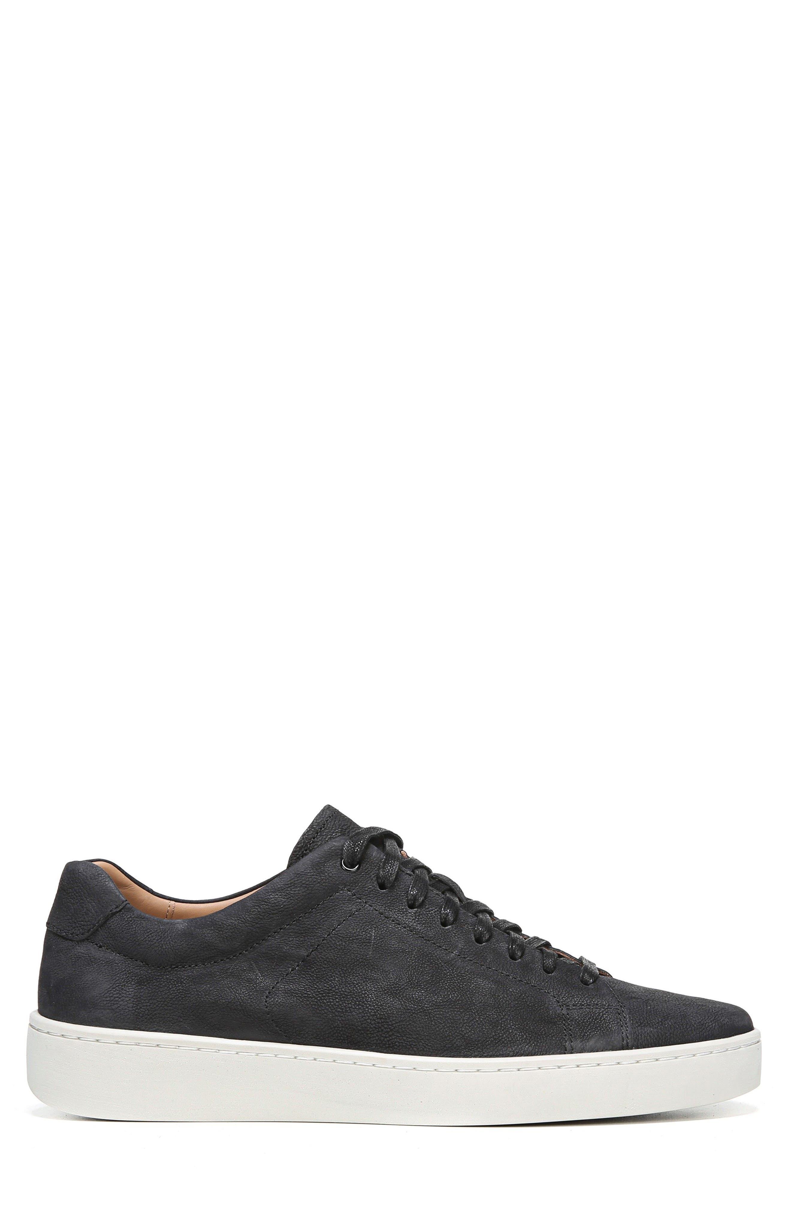 Slater Sneaker,                             Alternate thumbnail 3, color,                             BLACK NUBUCK