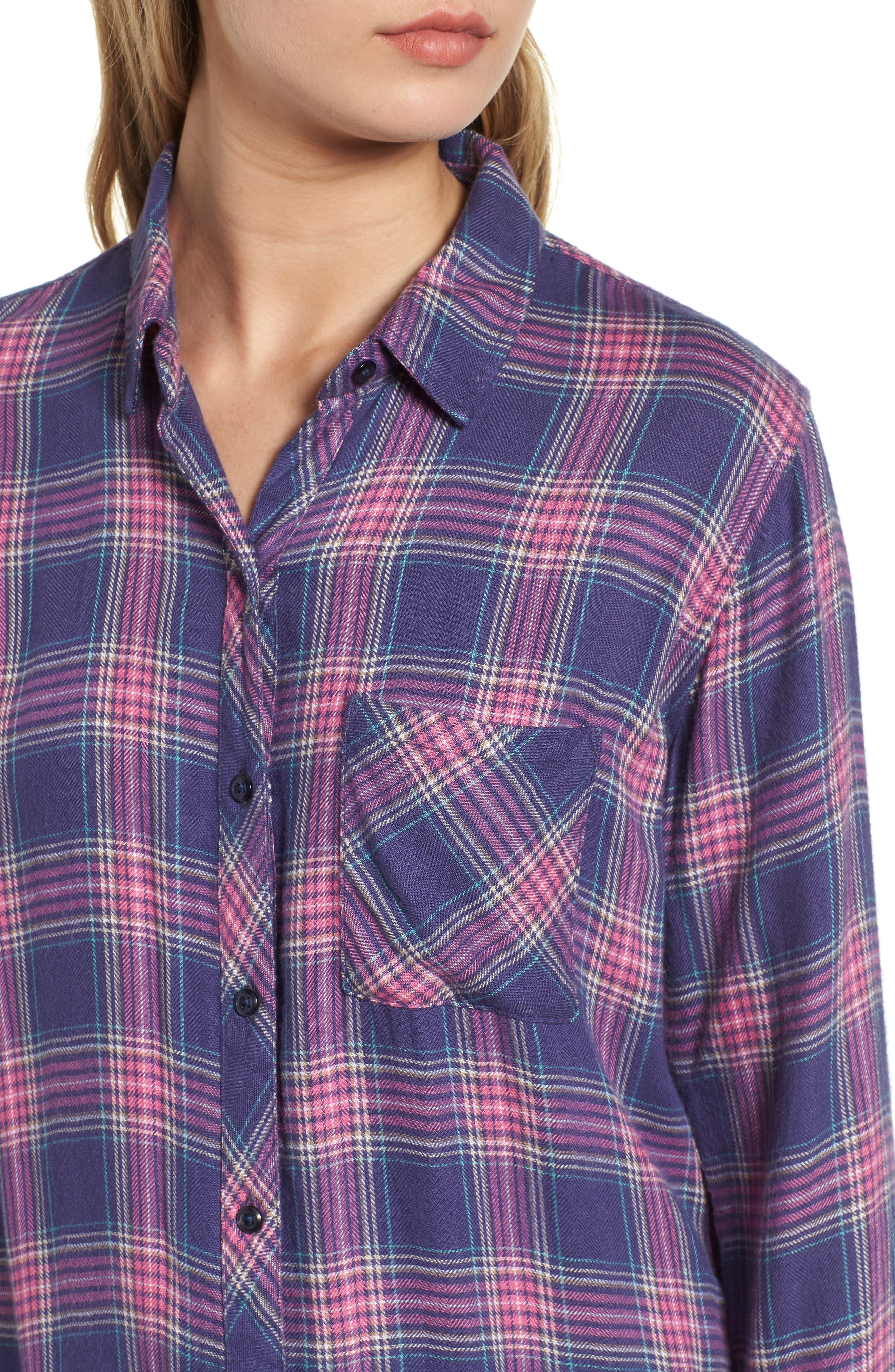 Hunter Plaid Shirt,                             Alternate thumbnail 489, color,
