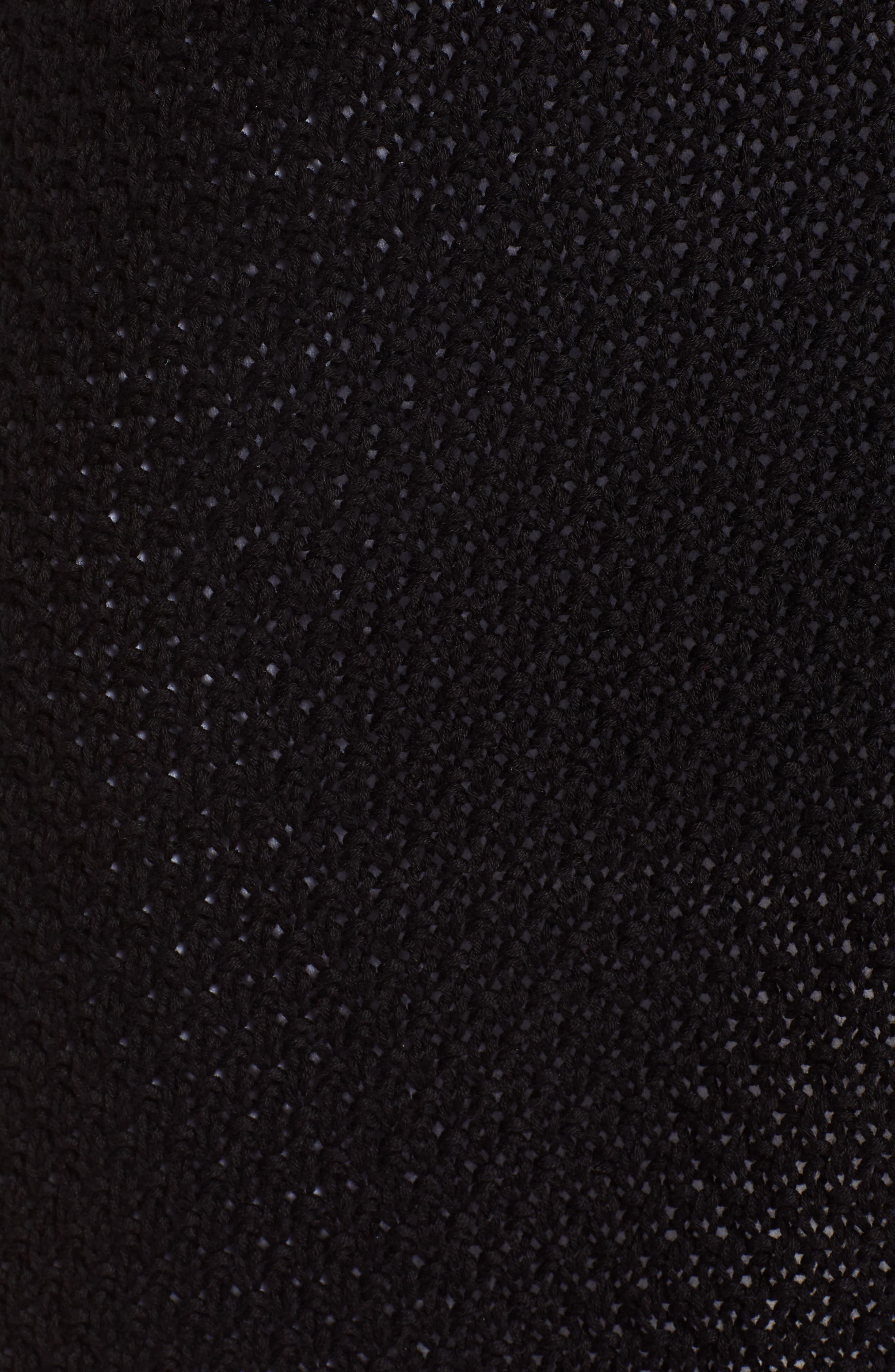 Textured Cotton Knit Cardigan,                             Alternate thumbnail 6, color,                             001