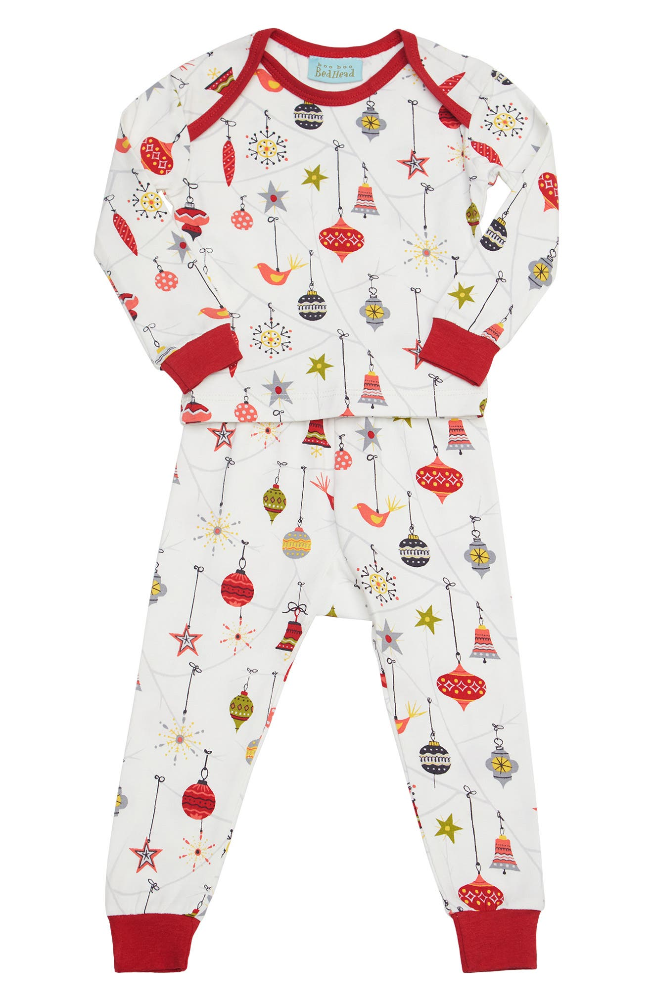 Fitted Two-Piece Pajamas,                         Main,                         color, 133
