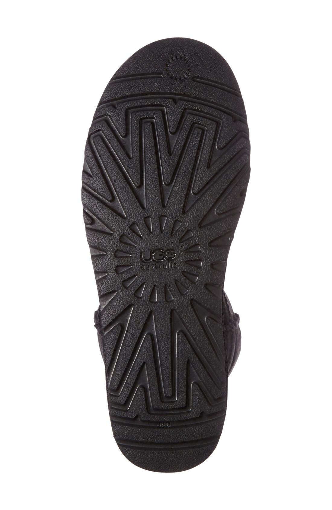Classic Short Boot,                             Alternate thumbnail 3, color,                             BLACK