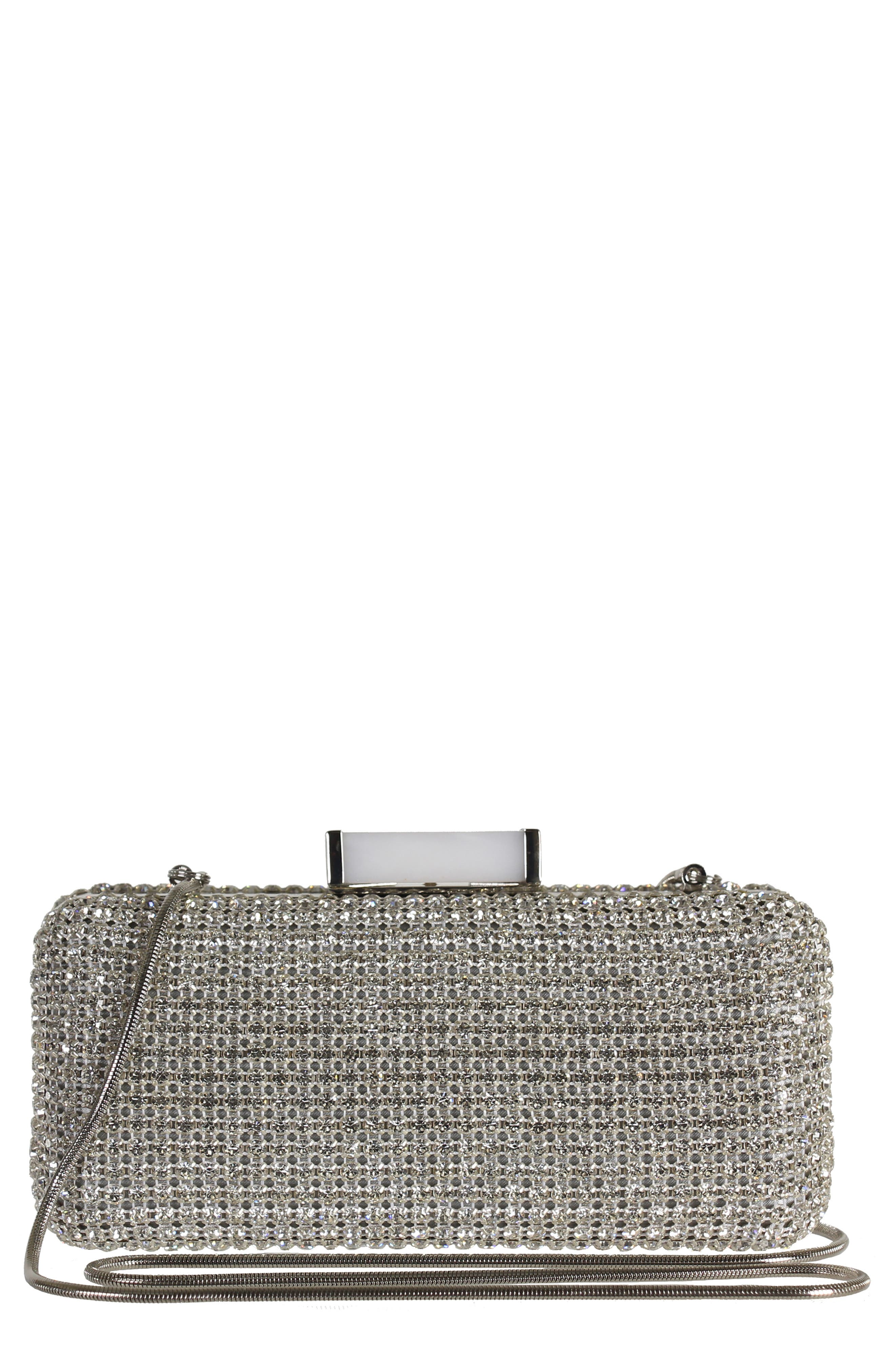 Cusp Embellished Clutch,                             Main thumbnail 1, color,                             040
