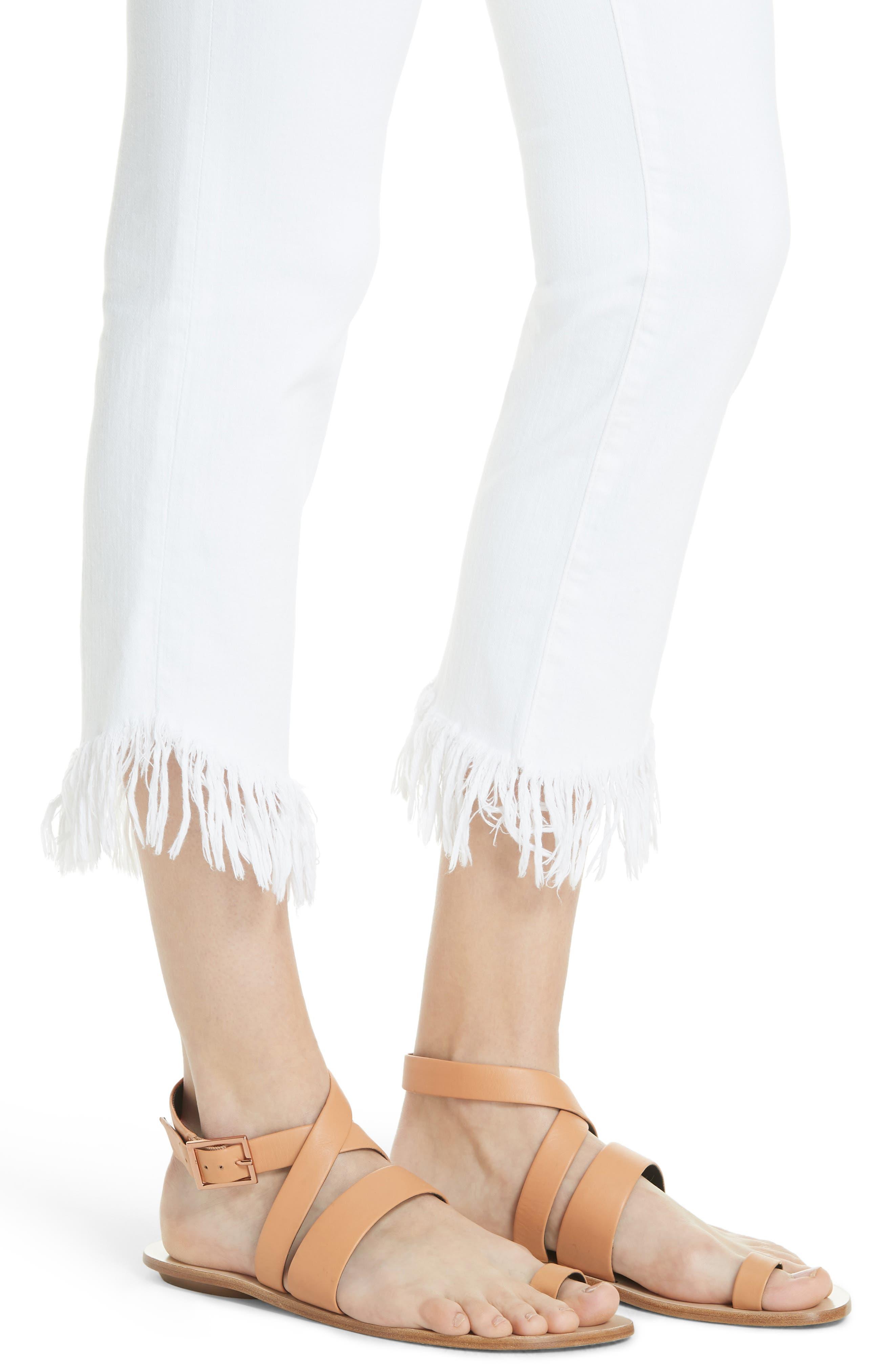 Le High Shredded Straight Leg Jeans,                             Alternate thumbnail 4, color,                             199