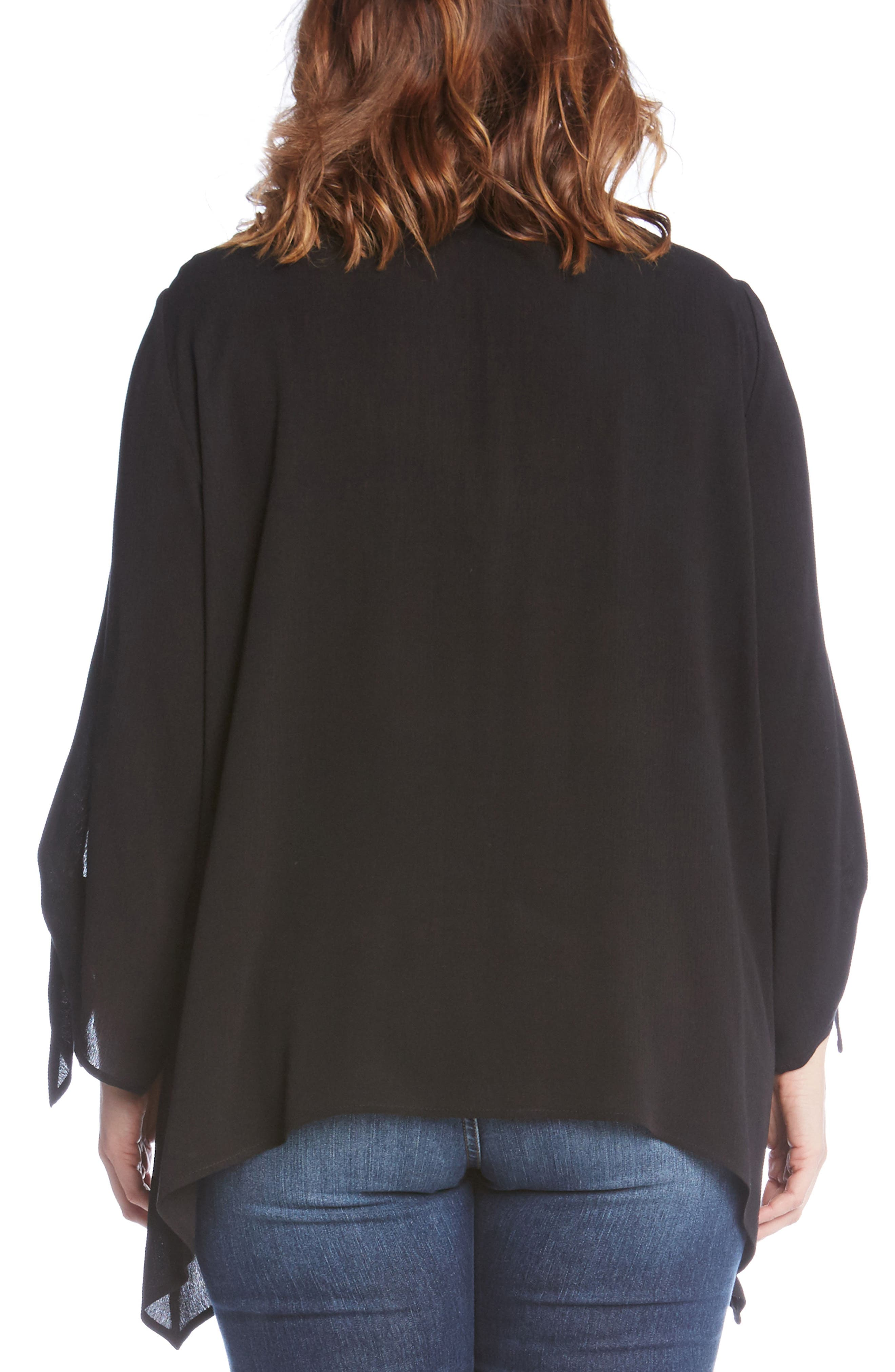Tie Sleeve Top,                             Alternate thumbnail 2, color,                             001