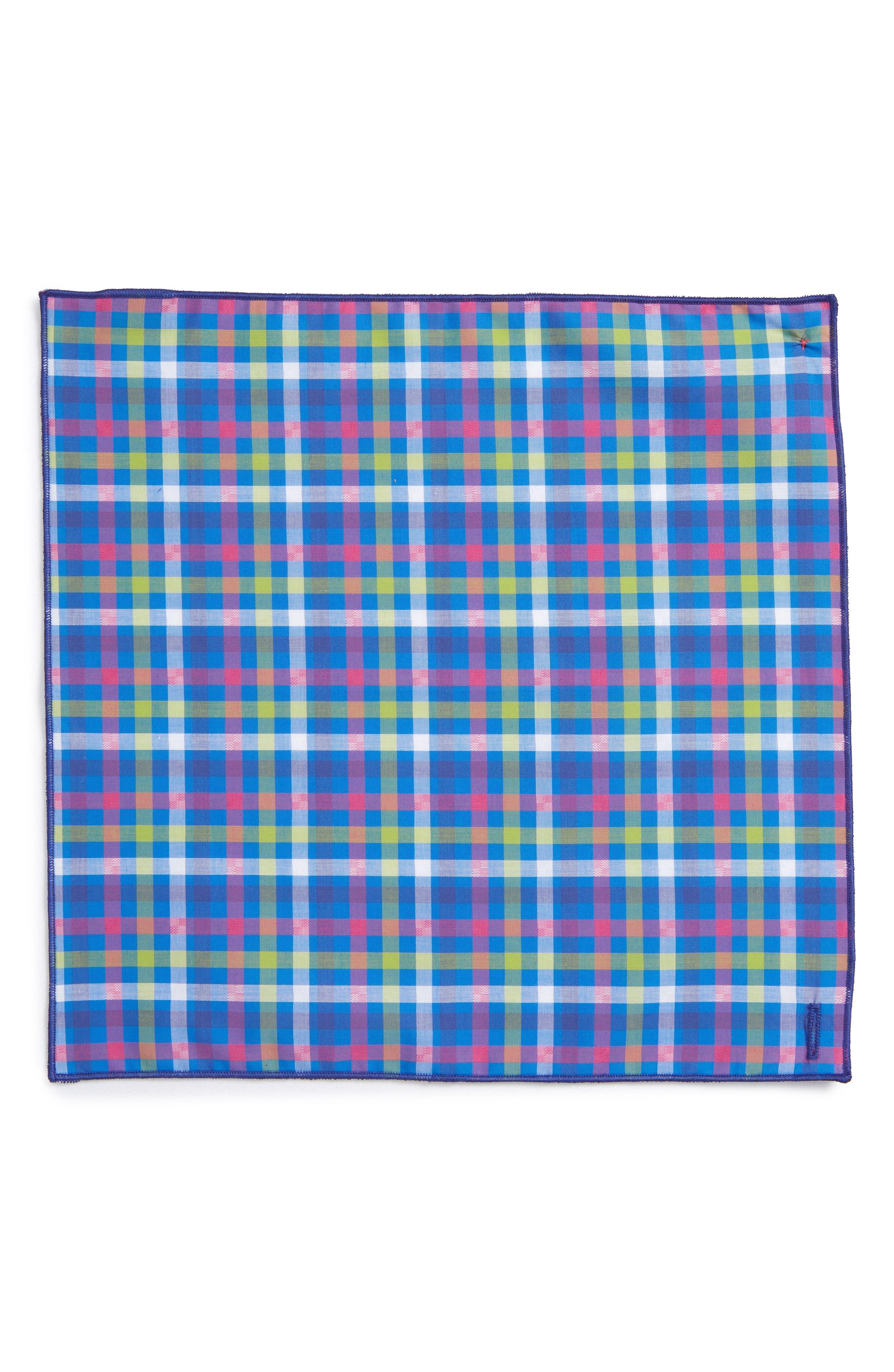 Preppy Jack Cotton Pocket Square,                             Alternate thumbnail 2, color,                             400