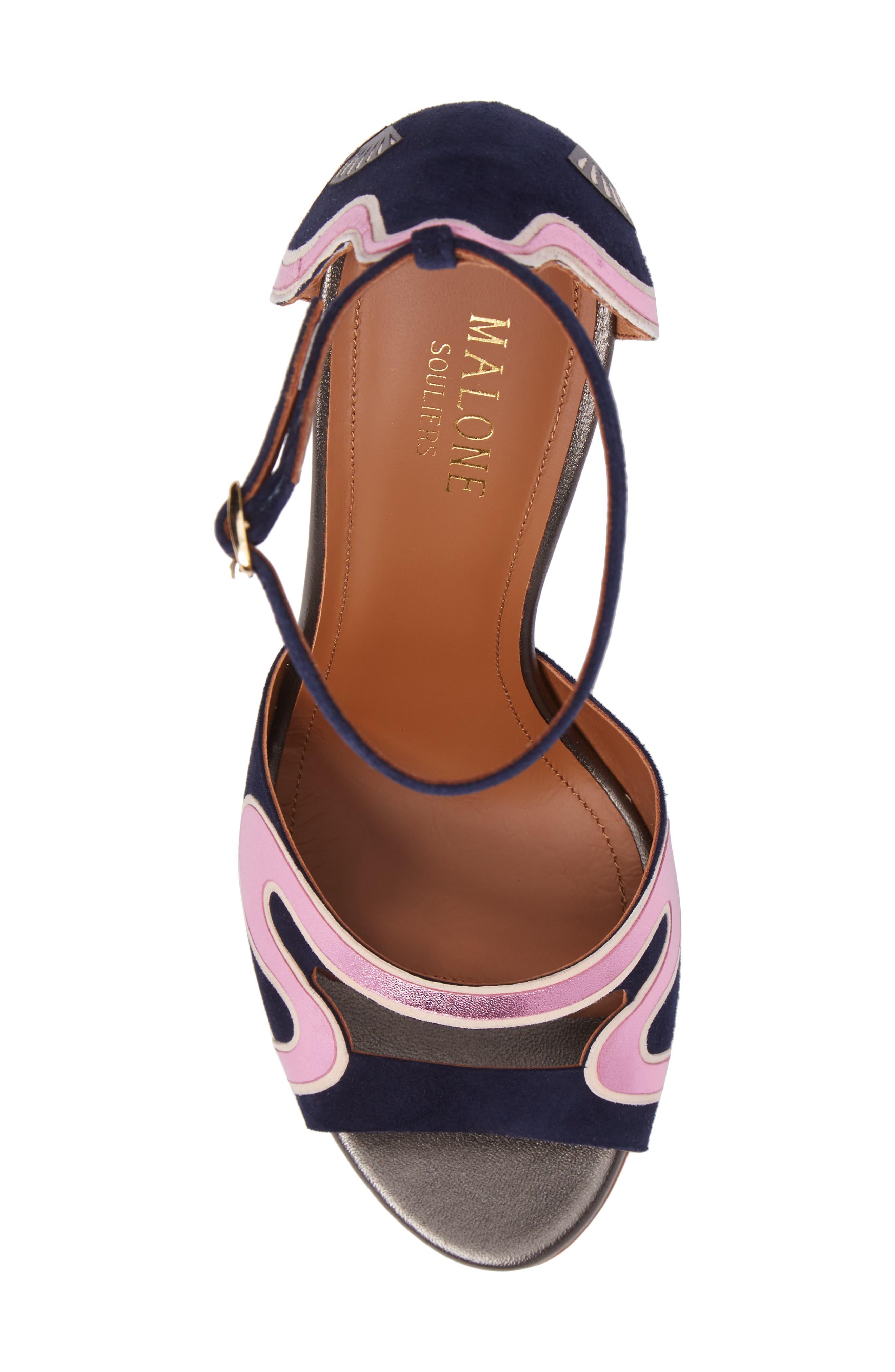 Nina Chunky Heel Sandal,                             Alternate thumbnail 5, color,                             400