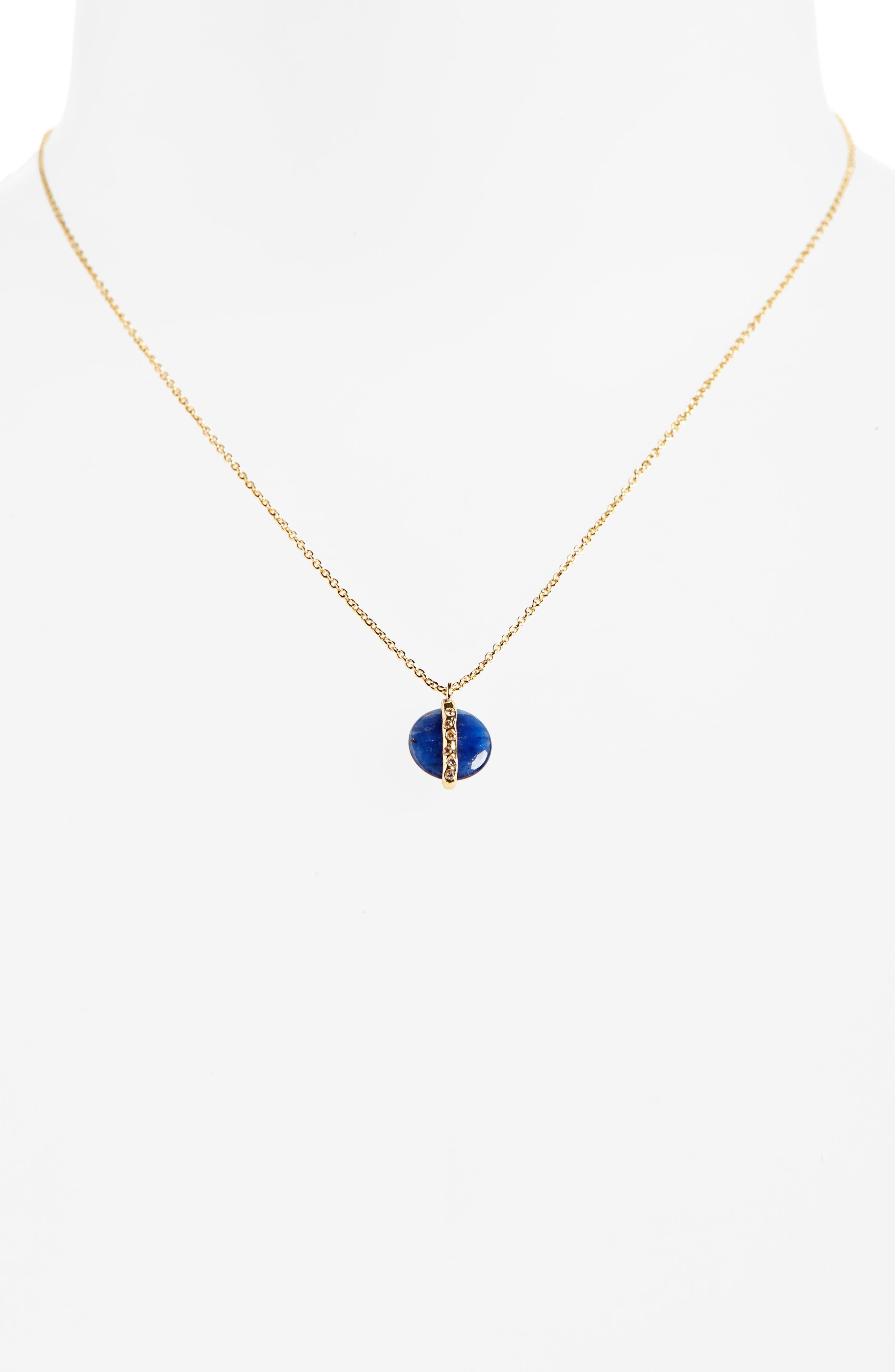 Brinn Shimmer Pendant Necklace,                         Main,                         color, SODALITE/ GOLD