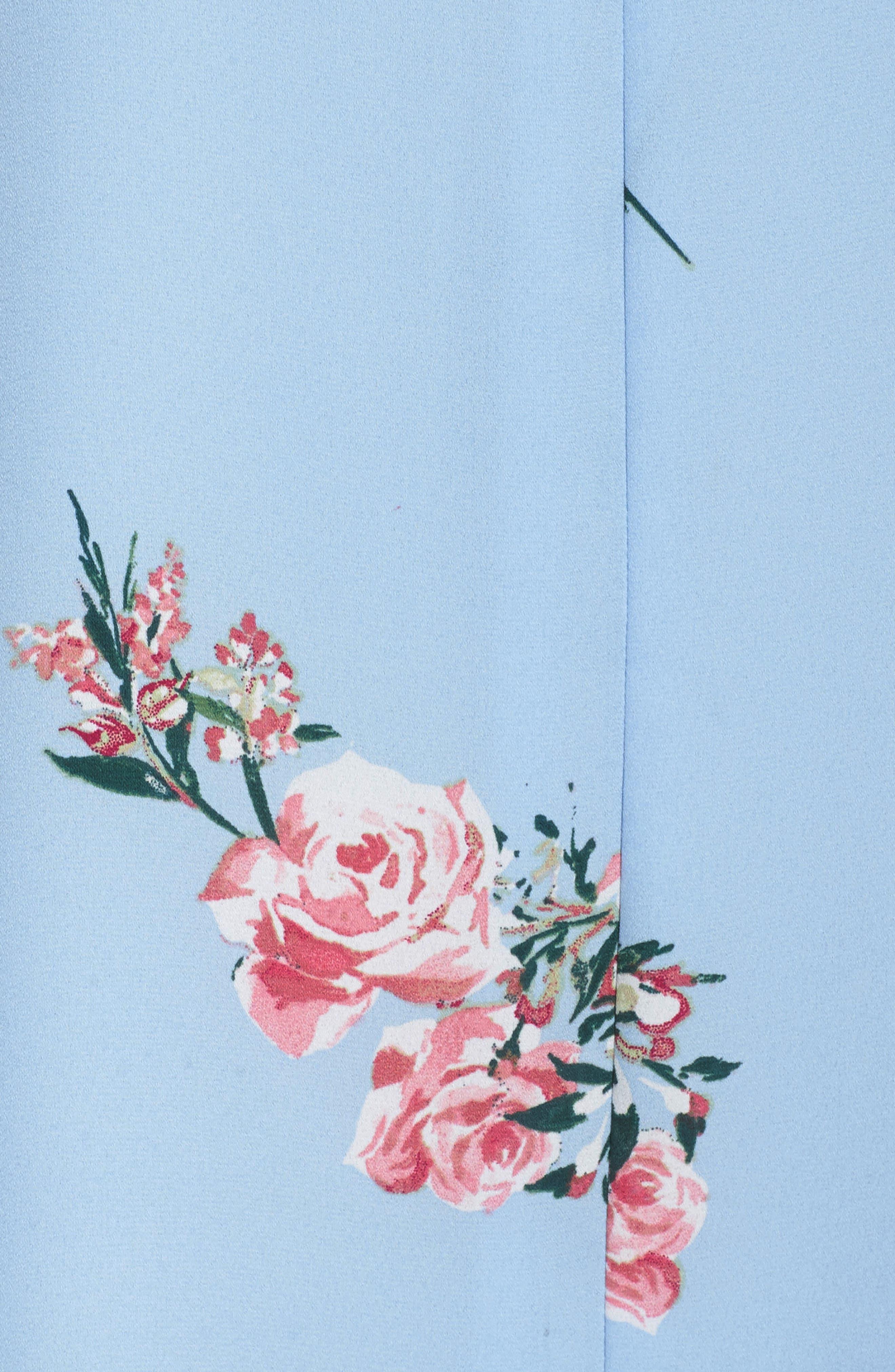 Floral Shift Dress,                             Alternate thumbnail 6, color,                             475
