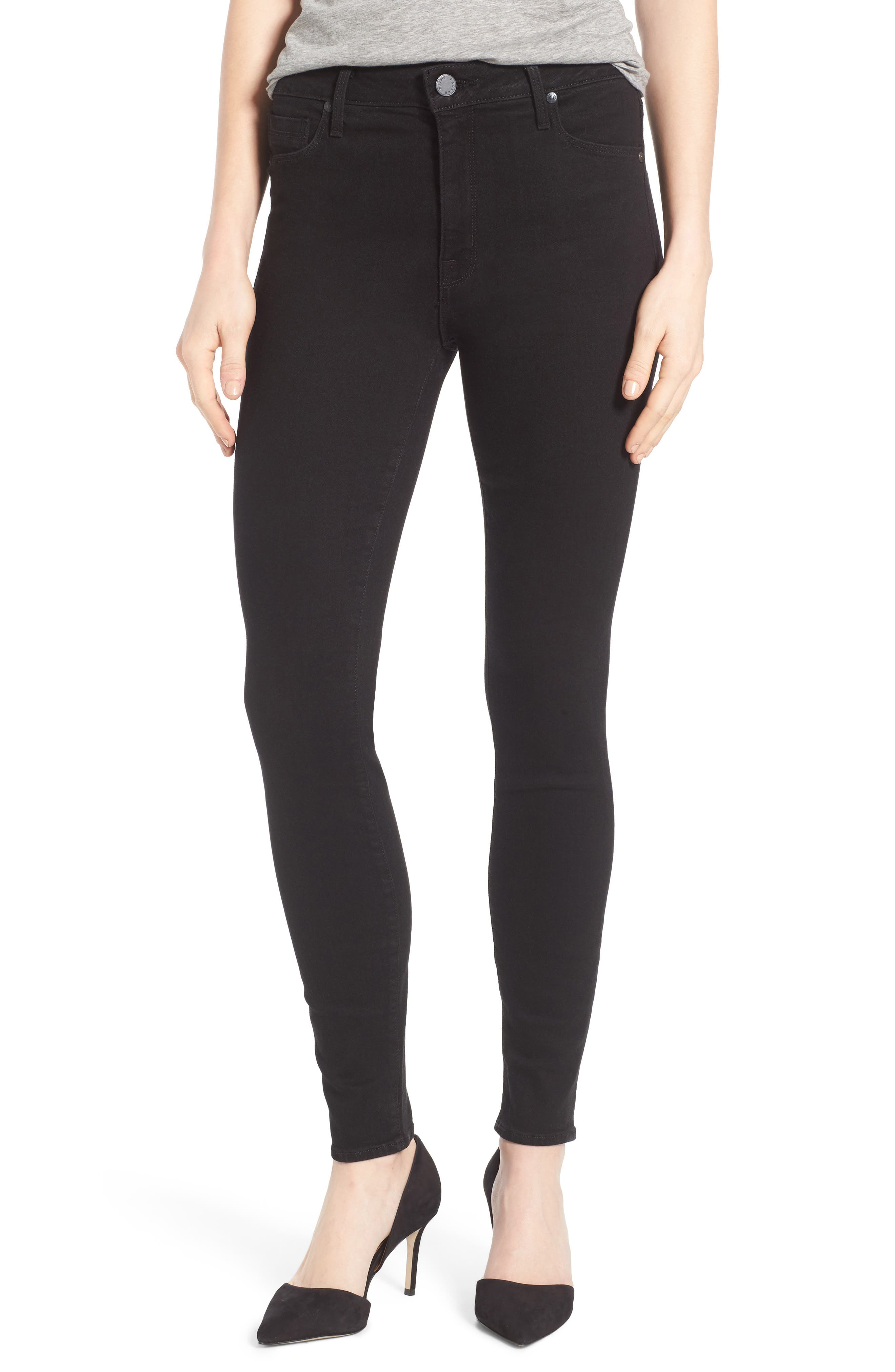 Bombshell High Waist Stretch Skinny Jeans,                         Main,                         color, 001