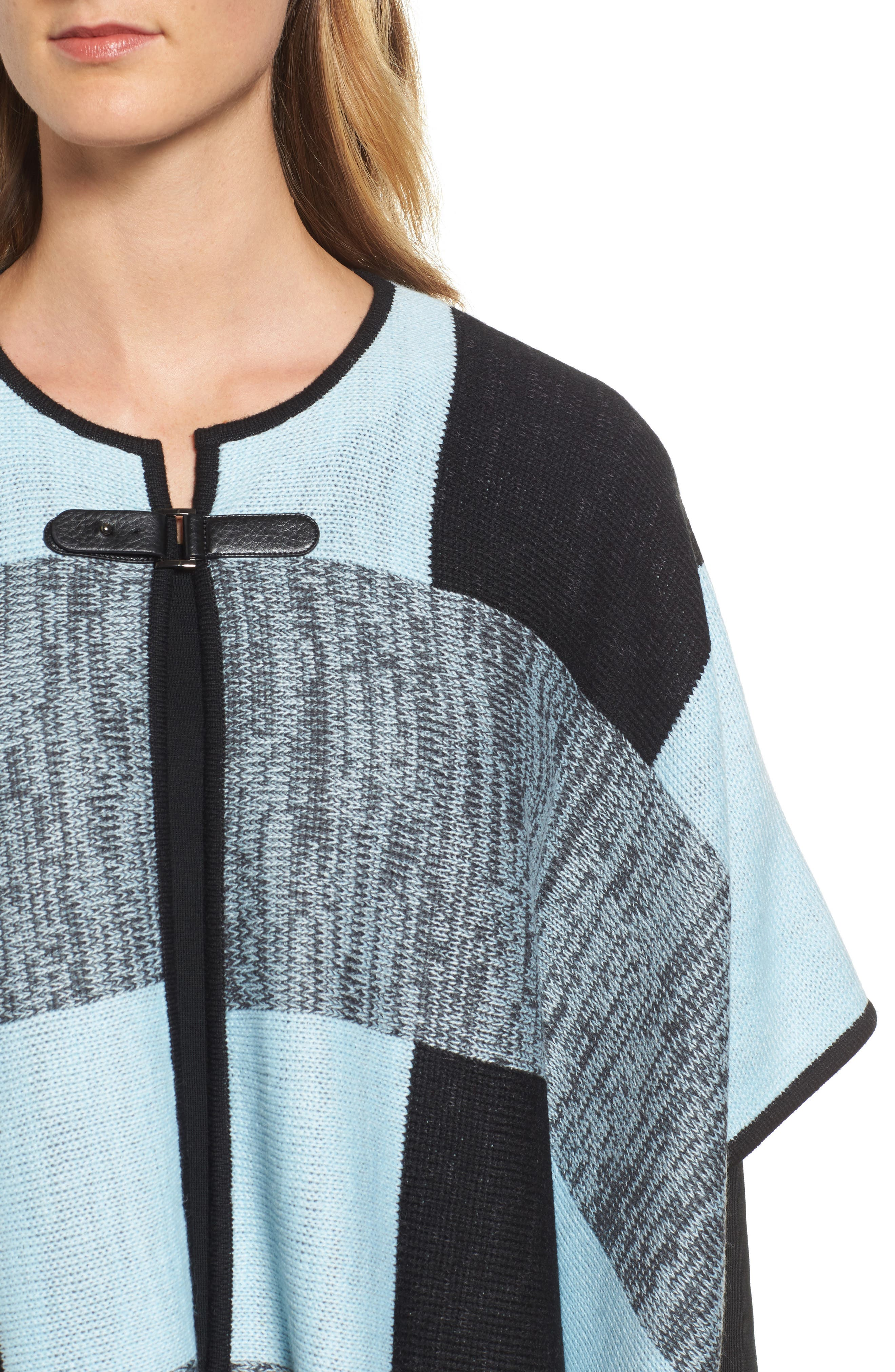 Buckle Front Poncho Cardigan,                             Alternate thumbnail 4, color,