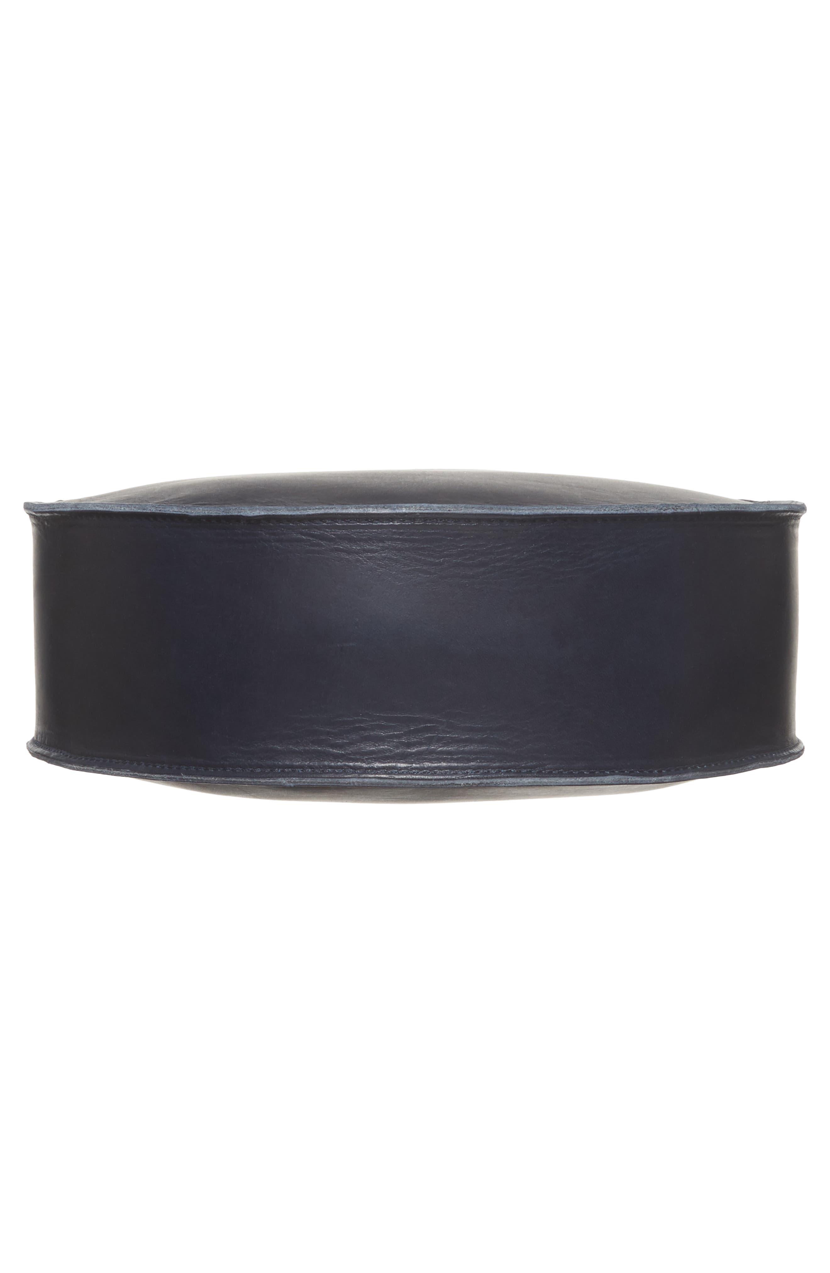 Petite Alistair Leather Circular Crossbody Bag,                             Alternate thumbnail 6, color,