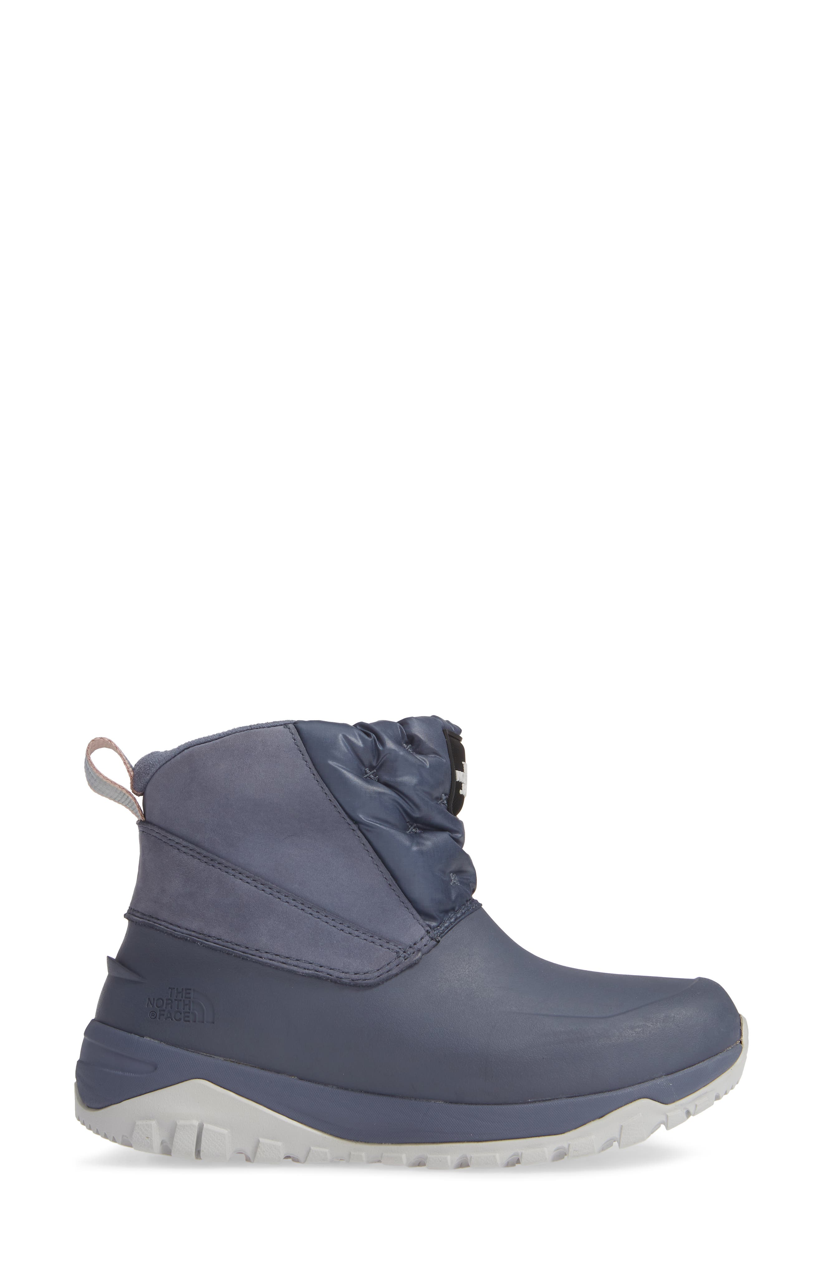 Yukiona Waterproof Ankle Boot,                             Alternate thumbnail 3, color,                             GRISAILLE GREY/ TIN GREY