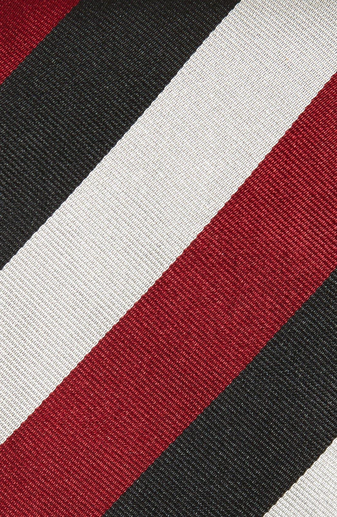 Stripe Silk Tie,                             Alternate thumbnail 2, color,                             001