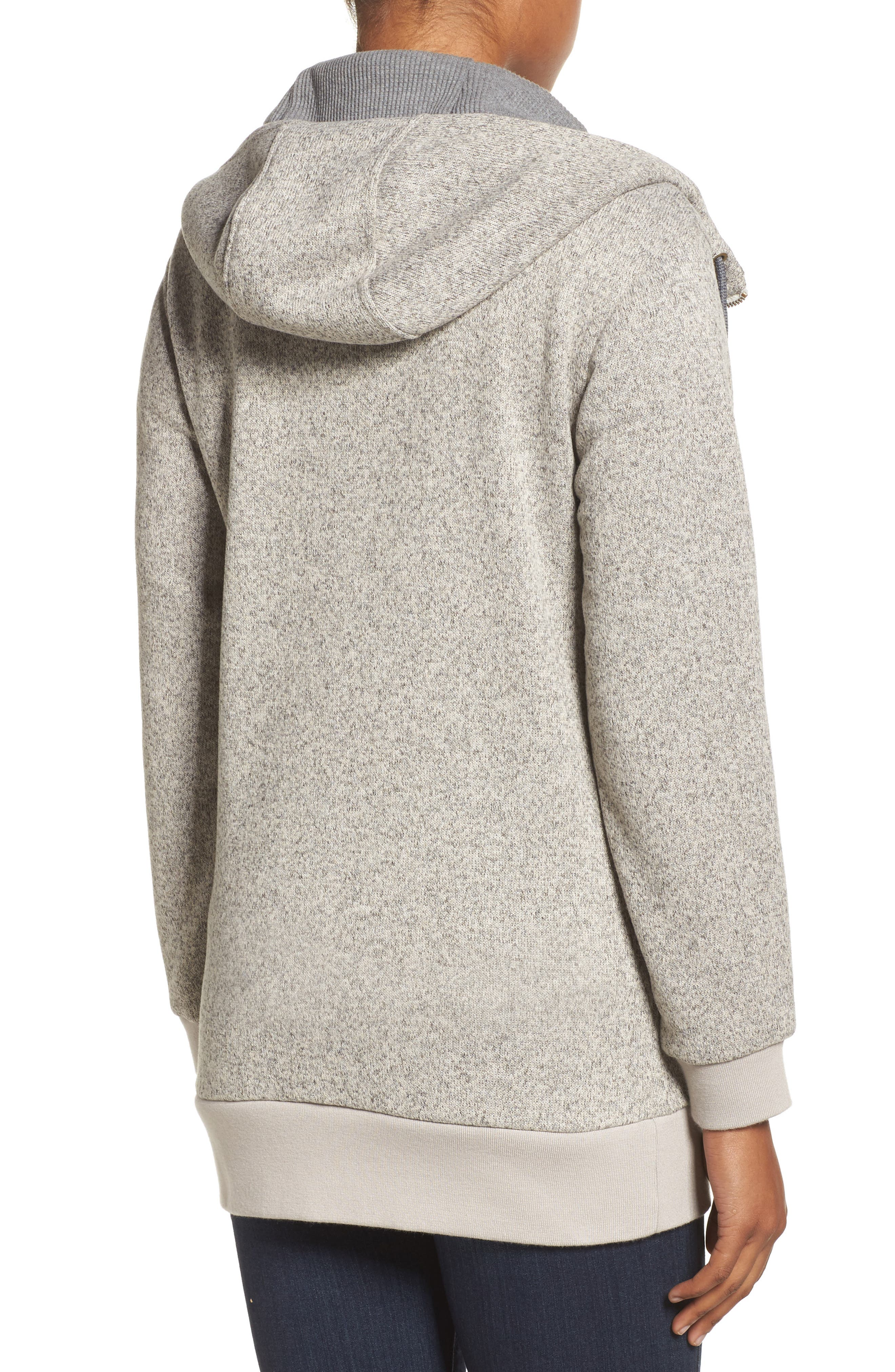Minxy DRYRIDE Thermex Sweater Knit Fleece Hoodie,                             Alternate thumbnail 2, color,                             020