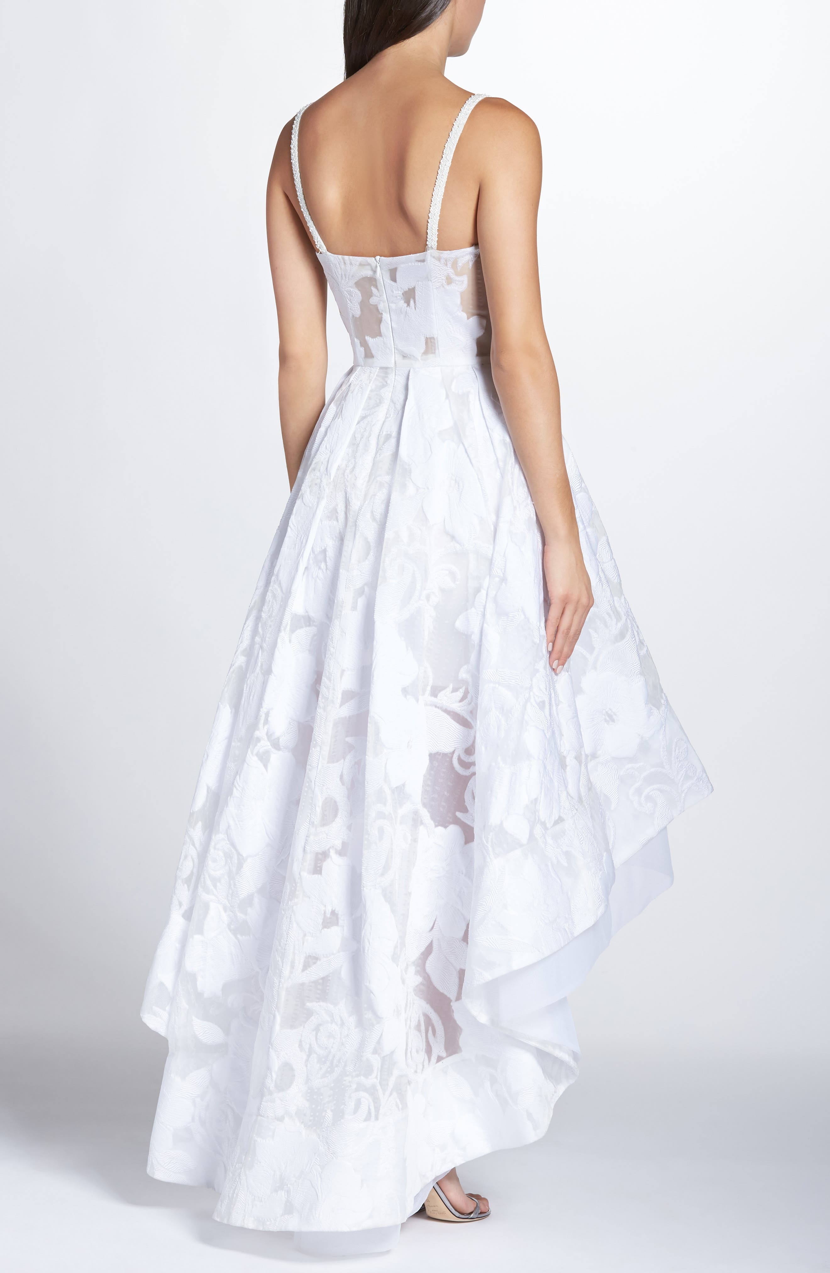 Boheme Floral High/Low Dress,                             Alternate thumbnail 2, color,                             WHITE