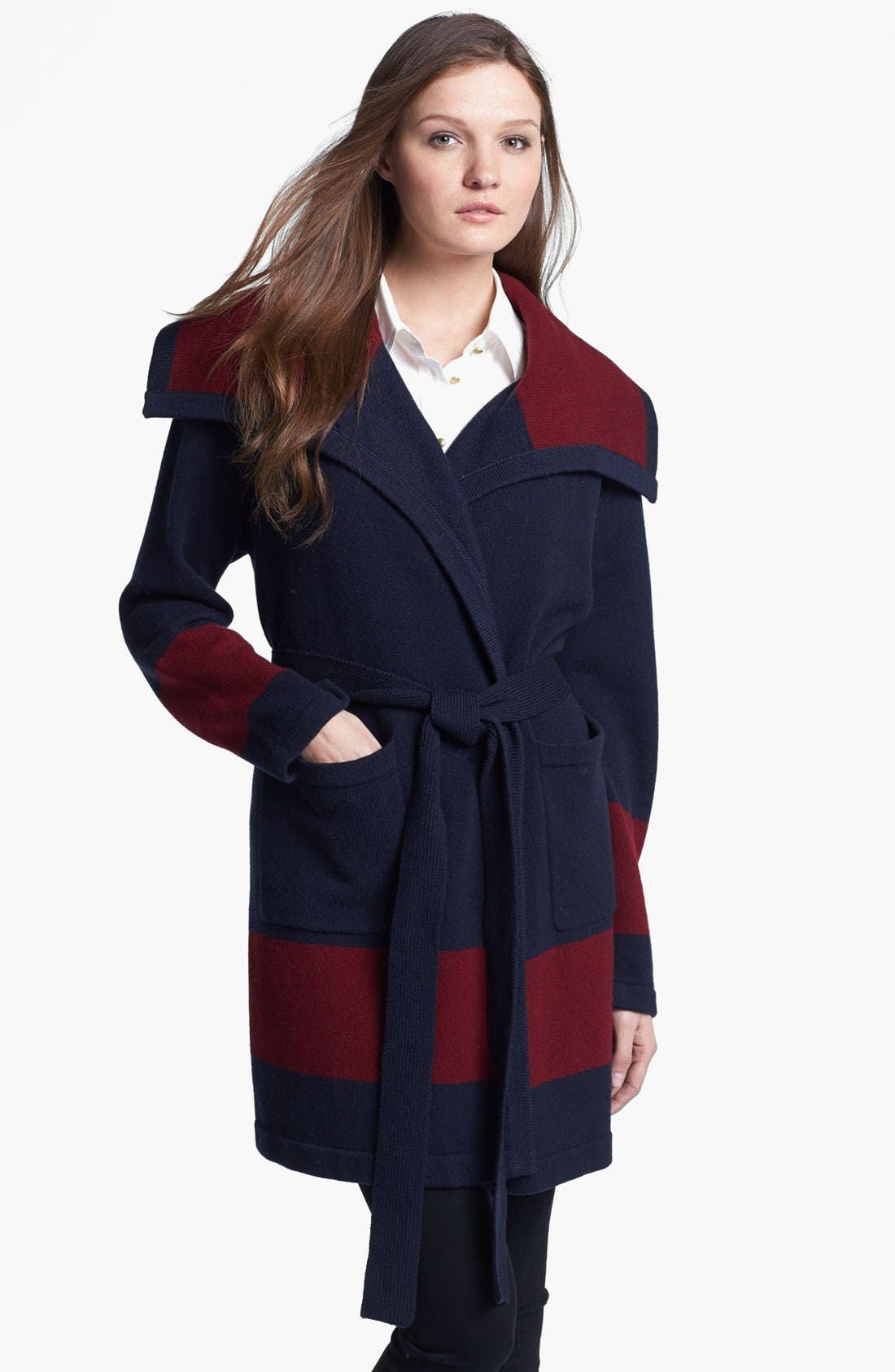 'Archie' Belted Wool Sweater,                             Main thumbnail 1, color,                             438