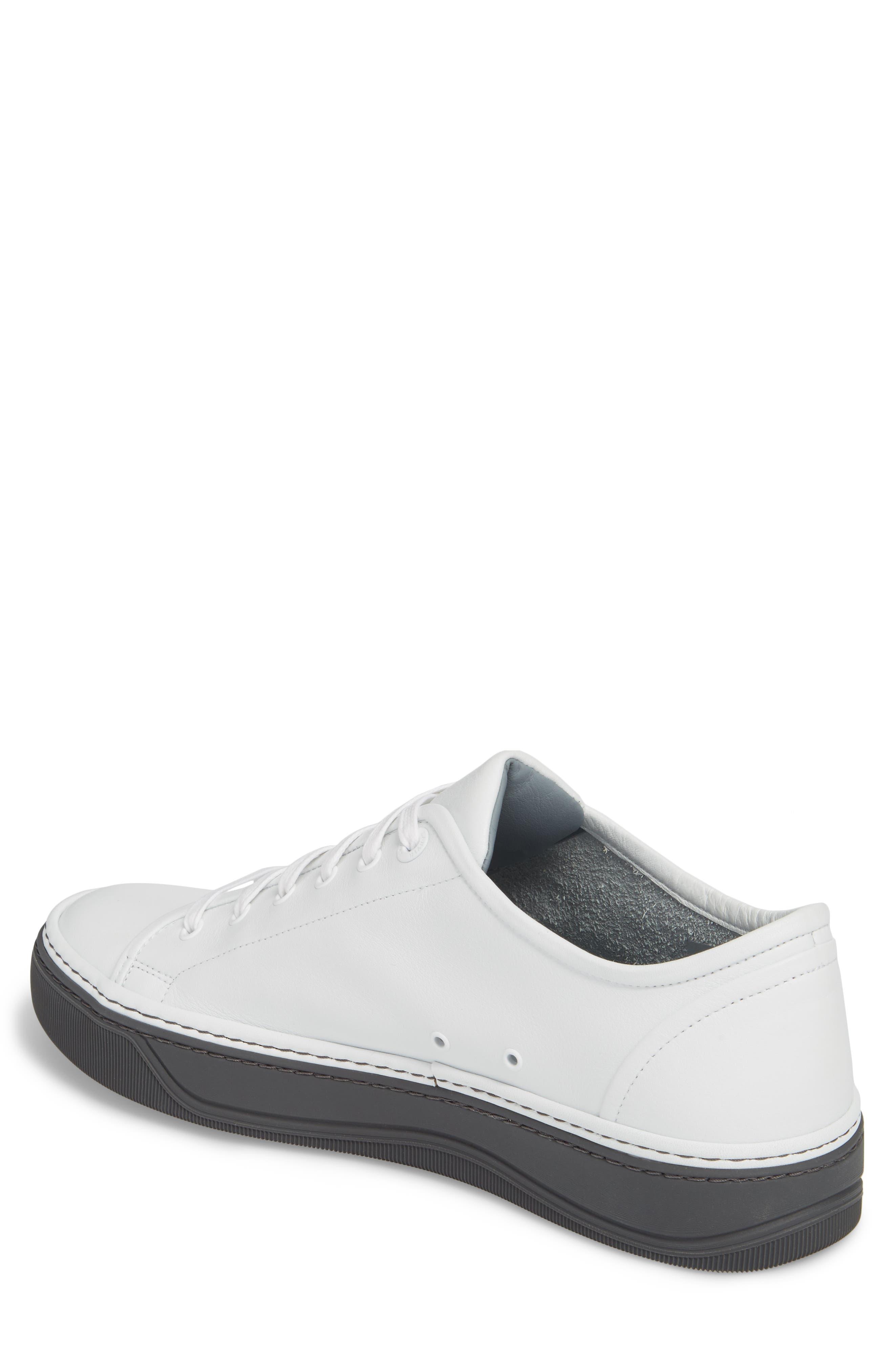 Mini Logo Clean Sneaker,                             Alternate thumbnail 2, color,                             100