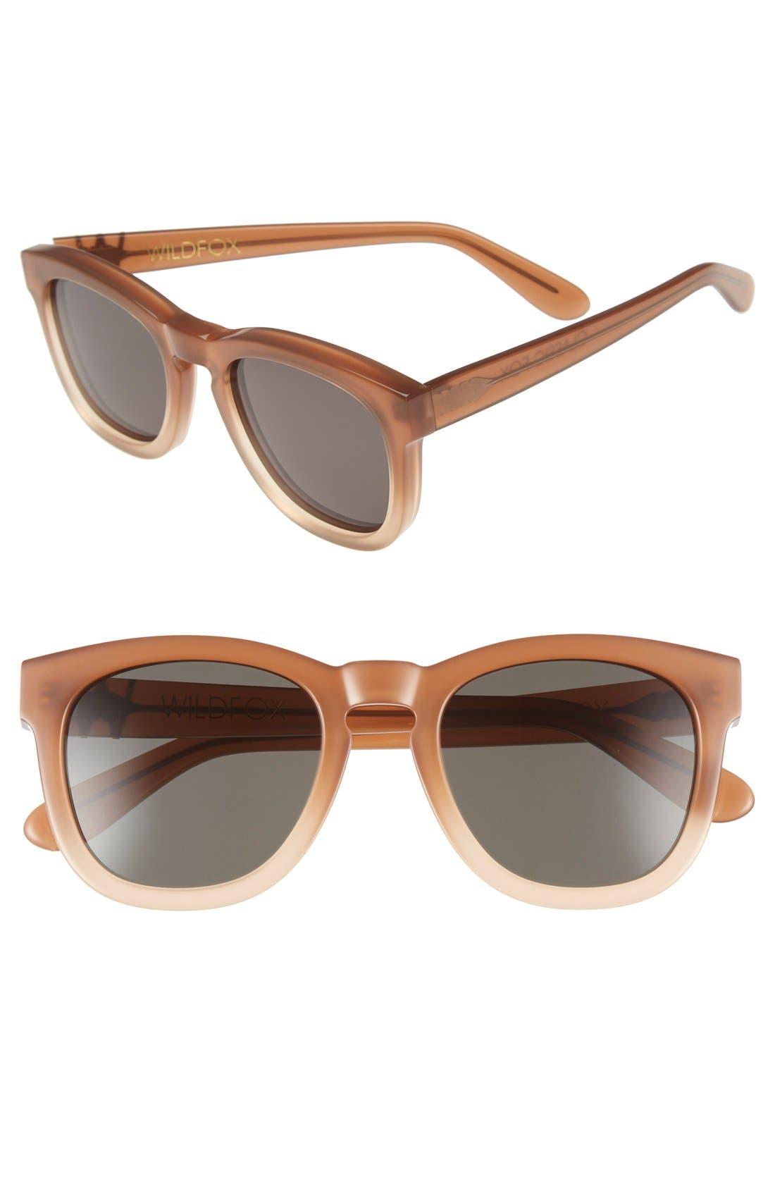 'Classic Fox' 50mm Retro Sunglasses,                             Main thumbnail 20, color,