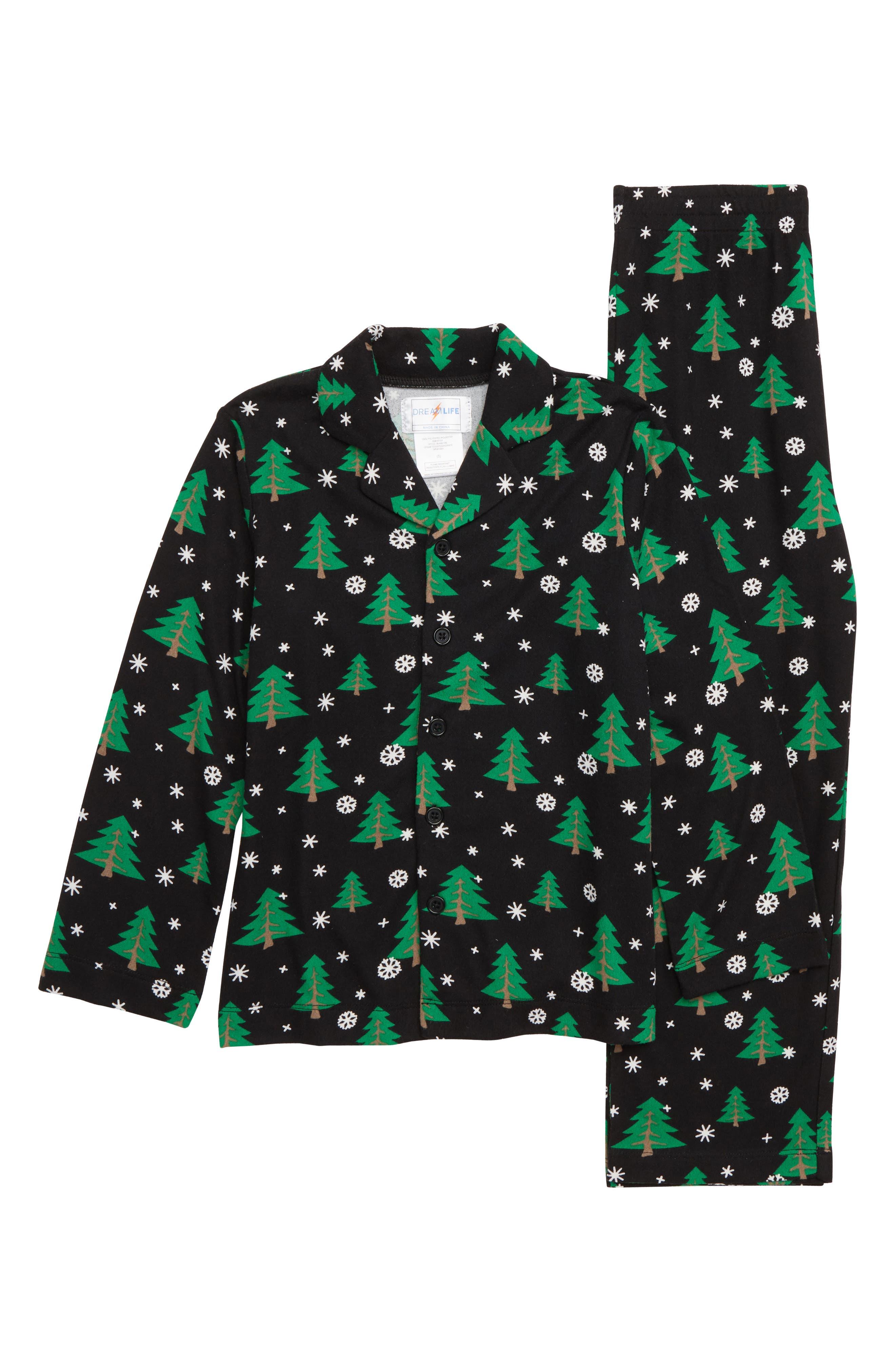 Christmas Tree Two-Piece Pajamas,                         Main,                         color, 001