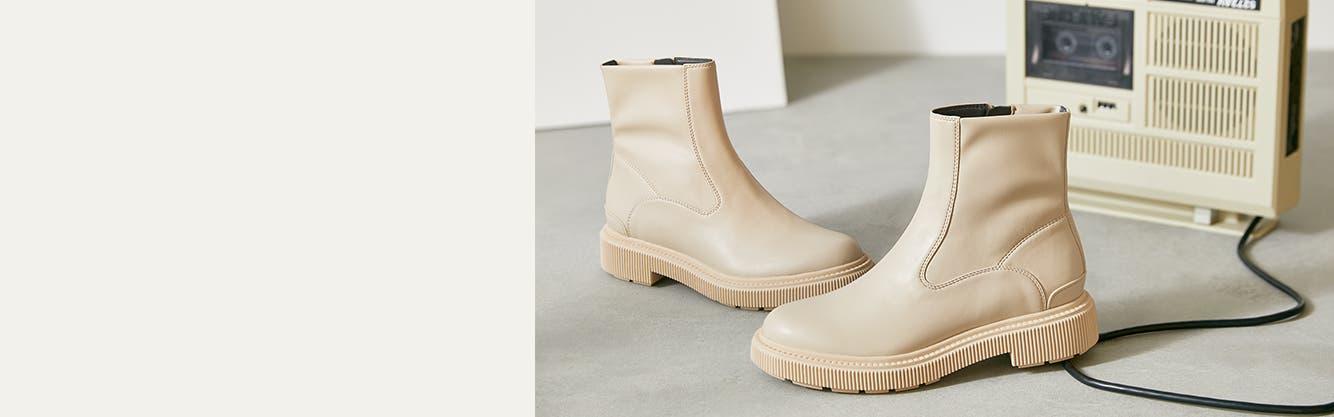 Women's lug-sole booties.