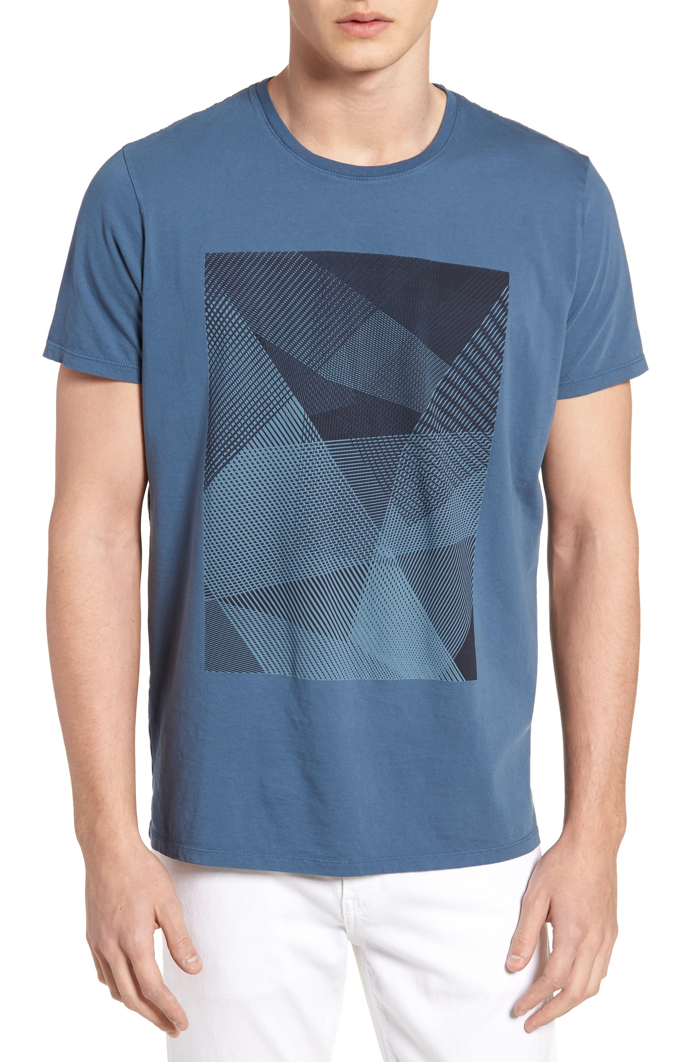 Line Matrix Graphic T-Shirt,                             Main thumbnail 1, color,                             400