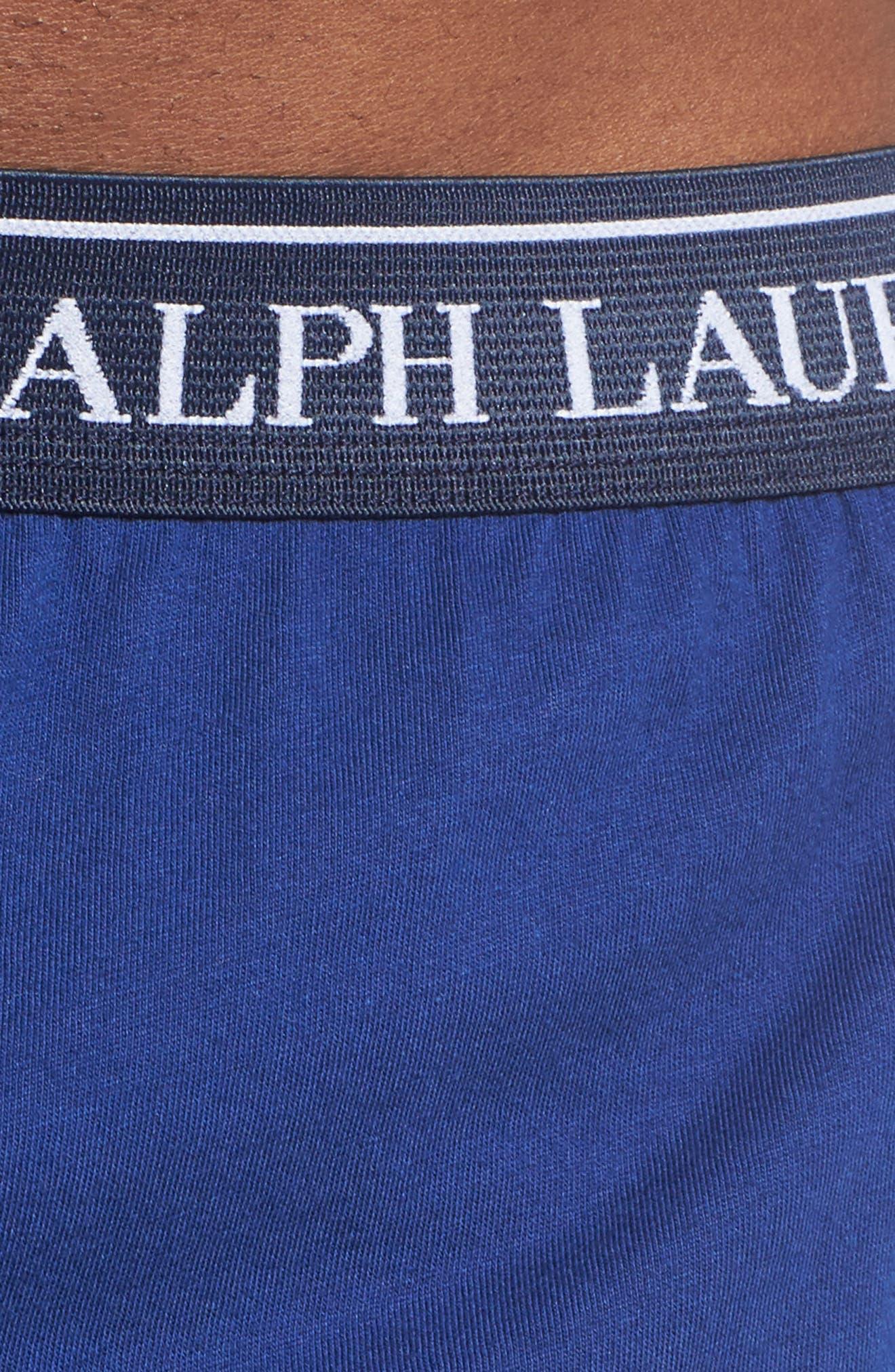 5-Pack Cotton Boxers,                             Alternate thumbnail 5, color,                             BLUE/ ROYAL BLUE/ NAVY