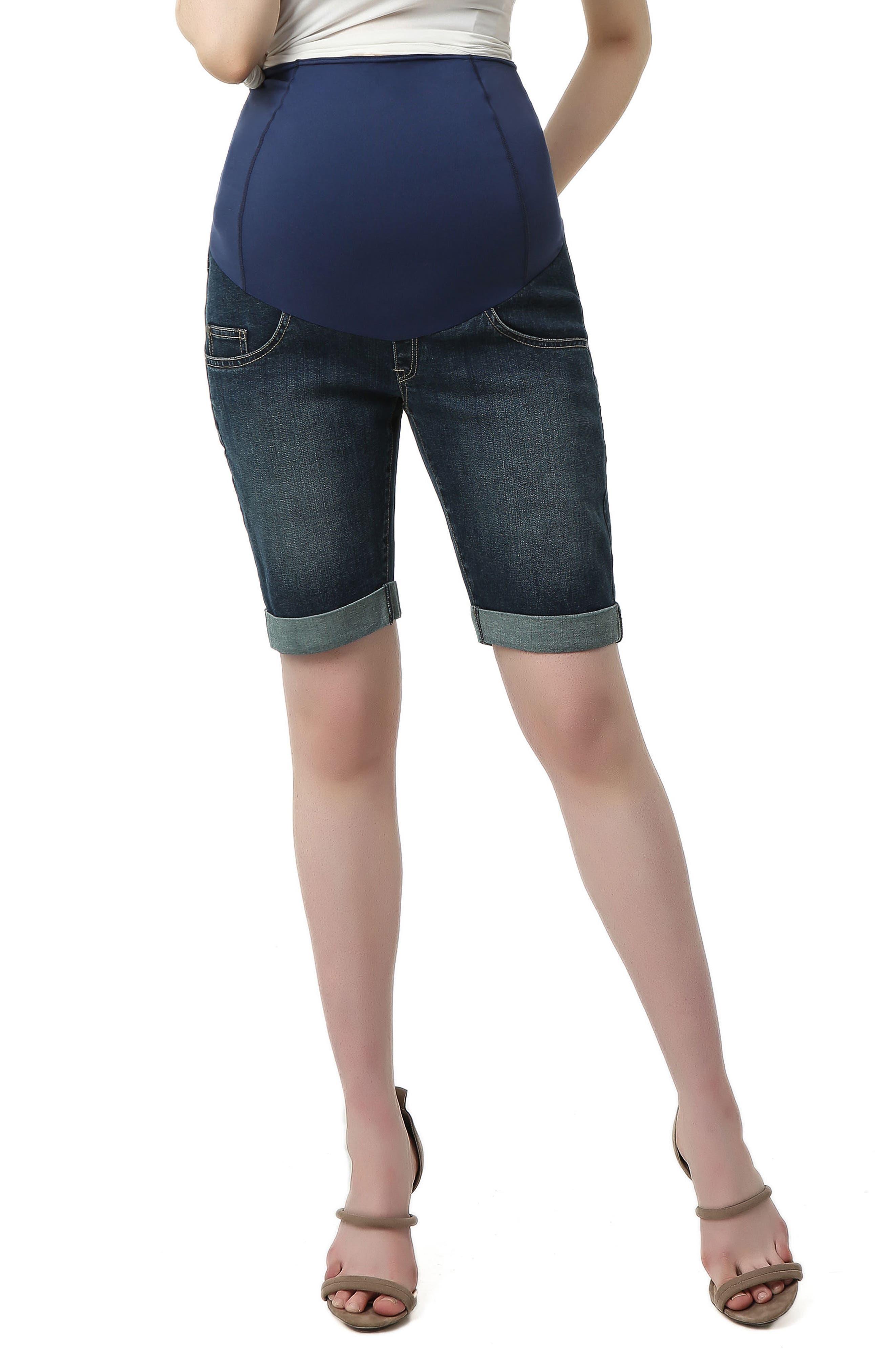 Women's Kimi And Kai Abbie Denim Stretch Maternity Shorts