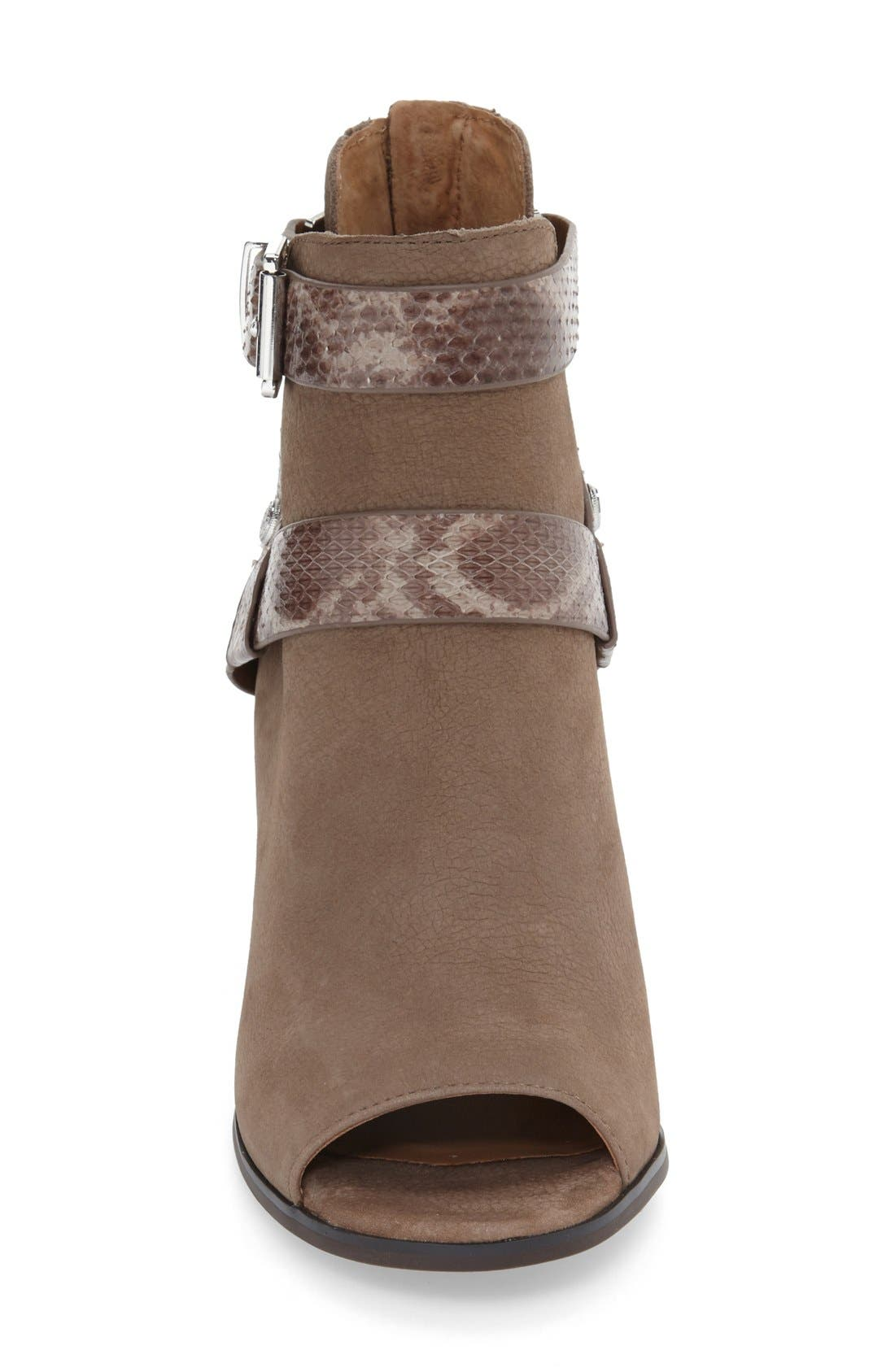 'Caraleigh' Peep Toe Bootie,                             Alternate thumbnail 3, color,                             741