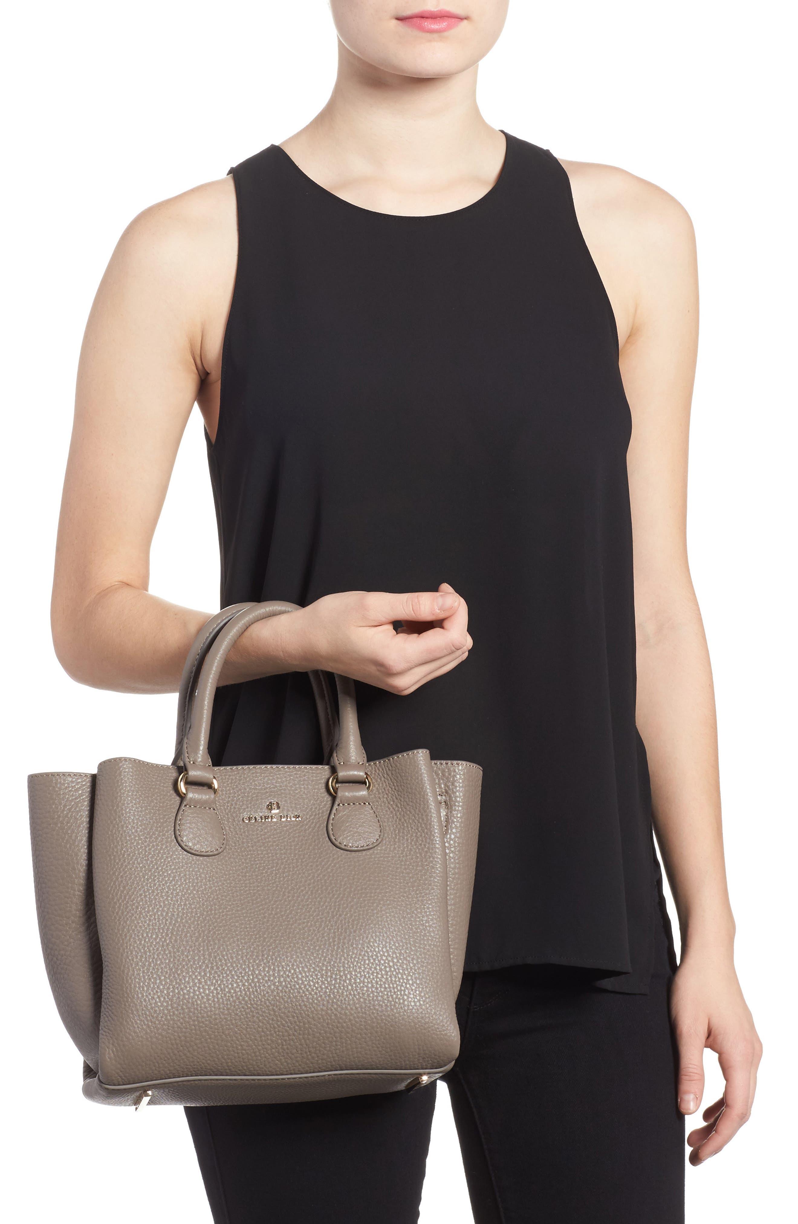 Céline Dion Small Adagio Leather Satchel,                             Alternate thumbnail 8, color,
