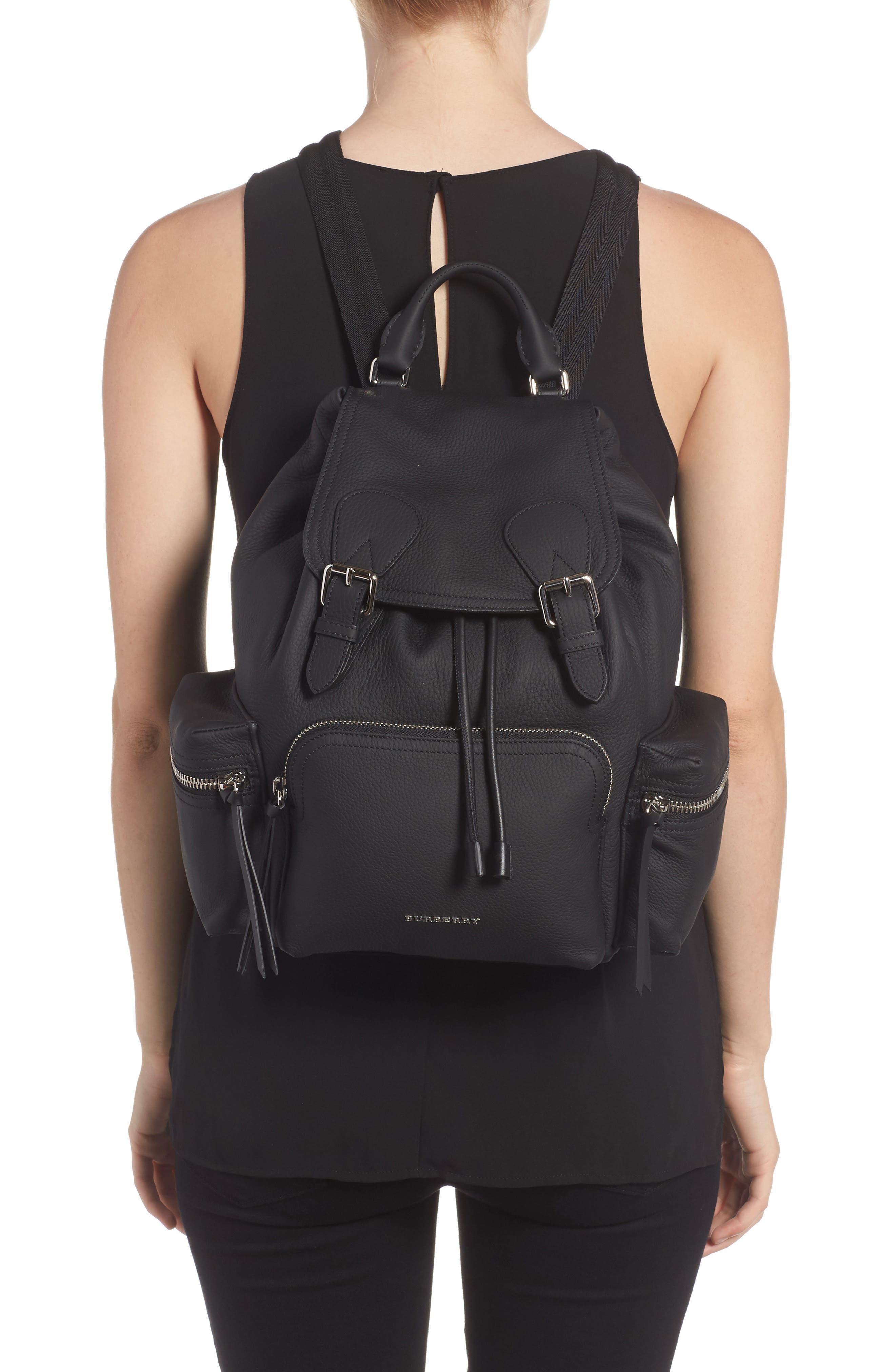 Medium Rucksack Leather Backpack,                             Alternate thumbnail 2, color,
