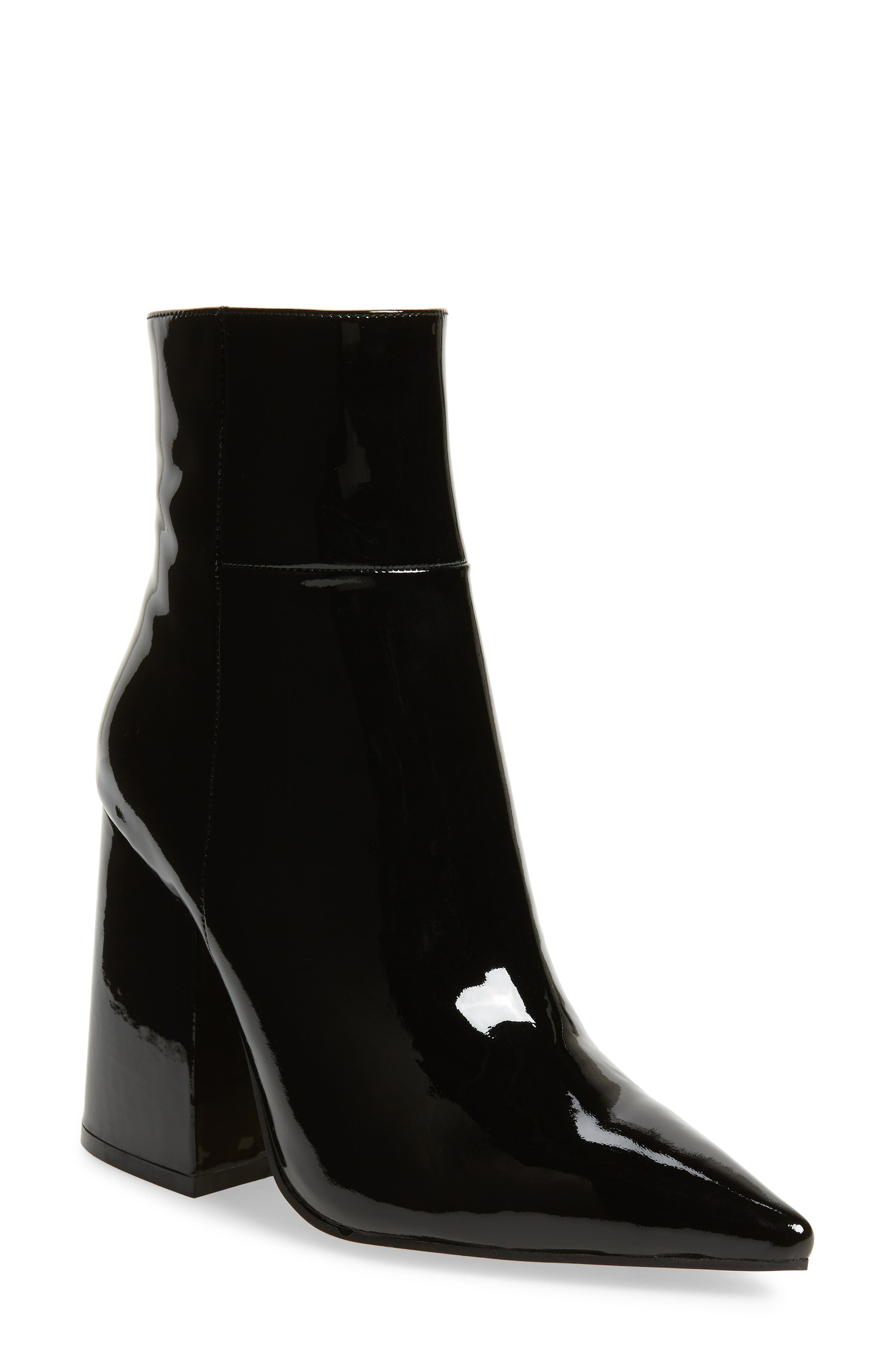 Ahara Bootie,                             Main thumbnail 1, color,                             BLACK PATENT LEATHER