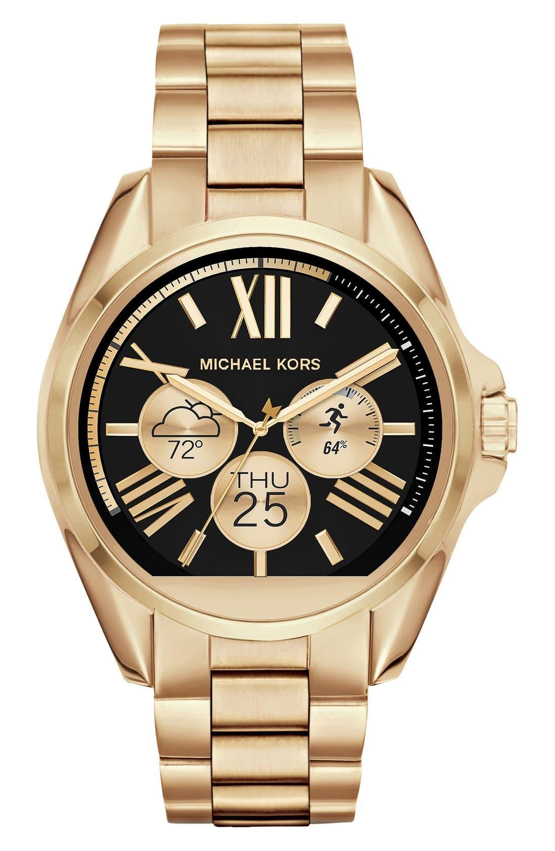 MICHAEL Michael Kors Bradshaw Access Bracelet Smart Watch, 45mm,                             Alternate thumbnail 20, color,