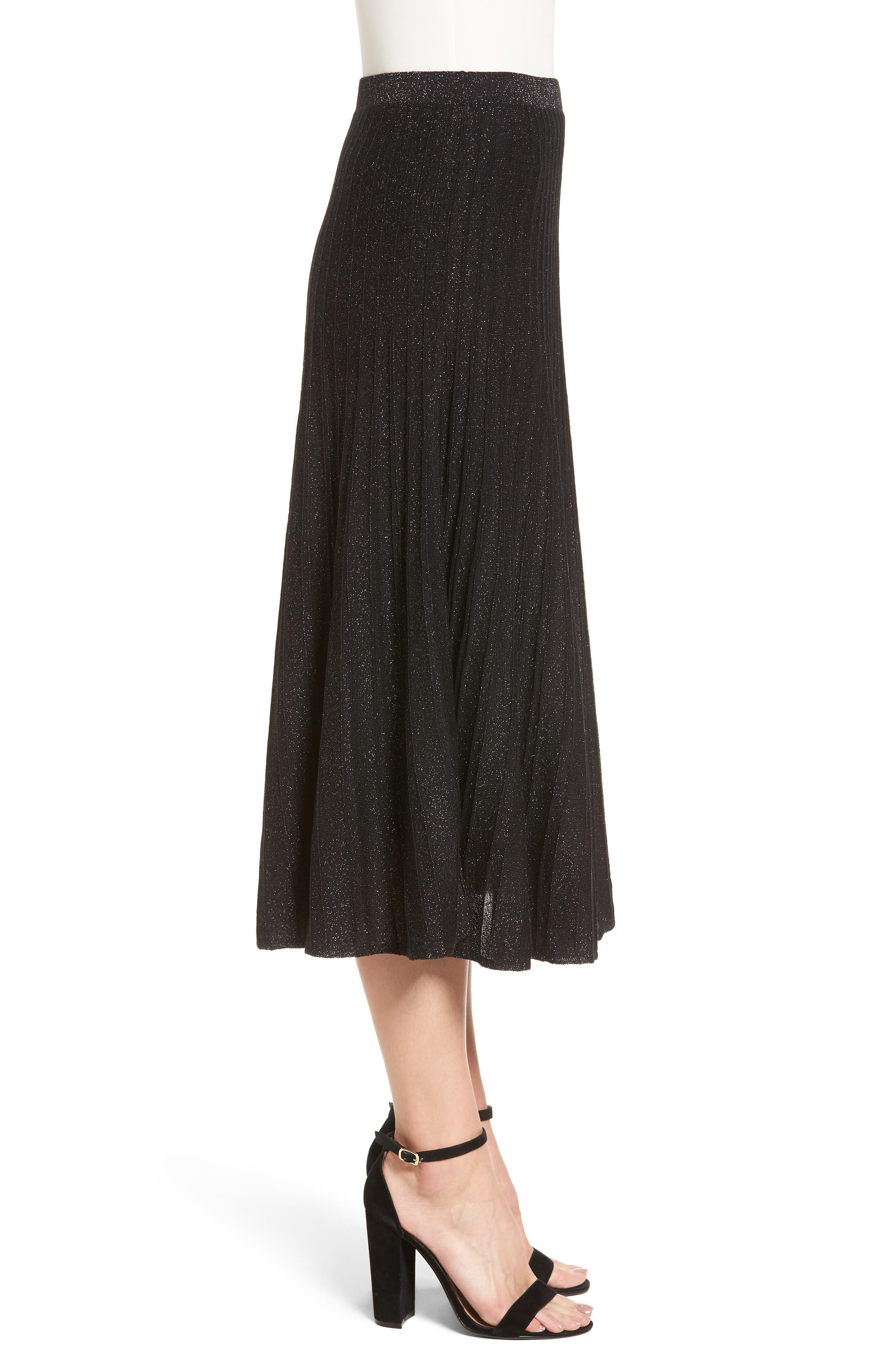 Luminary Pleated Midi Skirt,                             Alternate thumbnail 3, color,