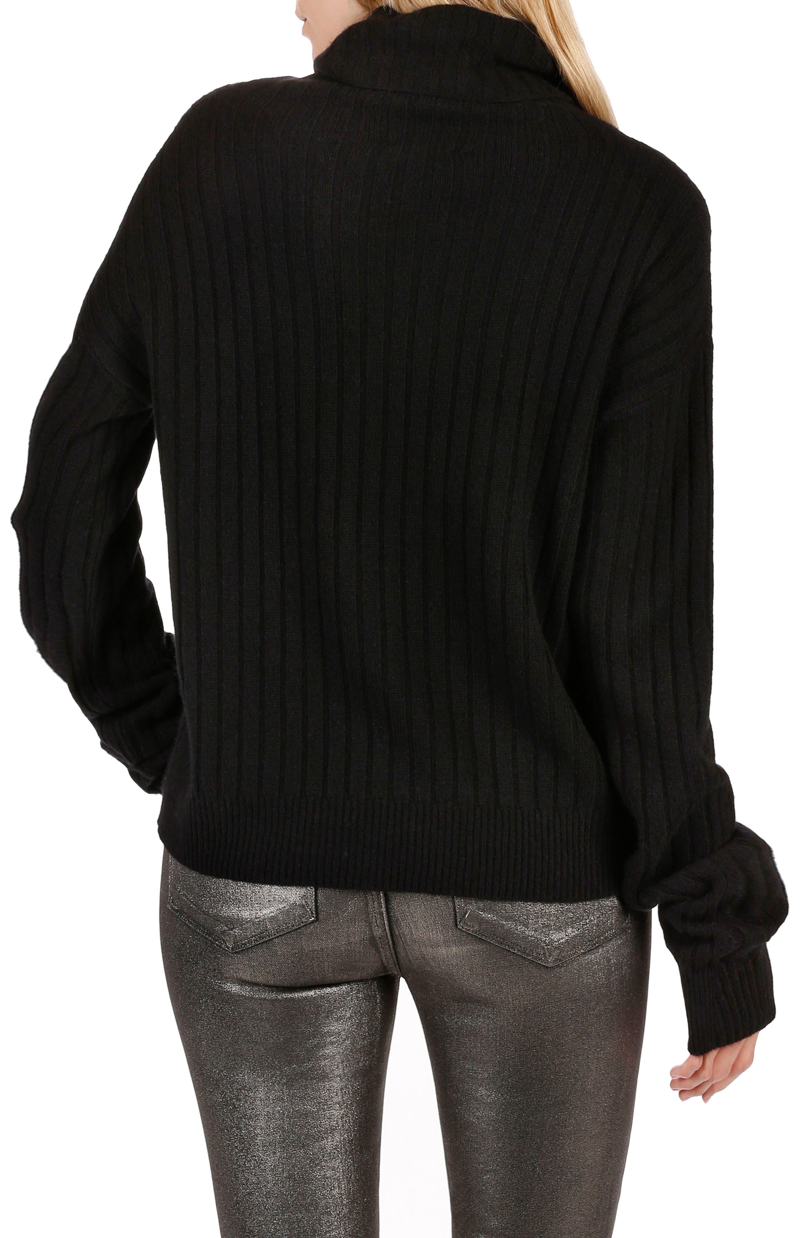 Rosie HW x PAIGE Mina Turtleneck Sweater,                             Alternate thumbnail 2, color,                             001