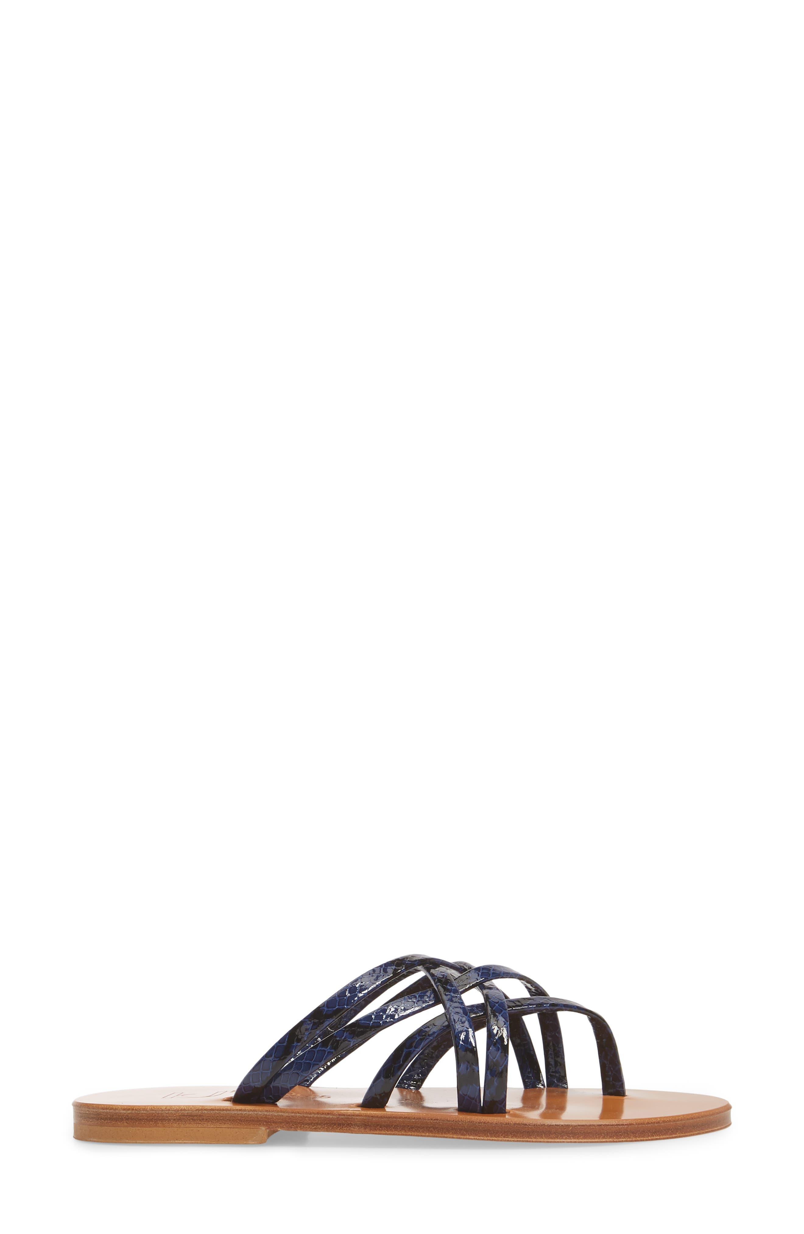 K. Jacques St. Tropez Strappy Thong Sandal,                             Alternate thumbnail 6, color,