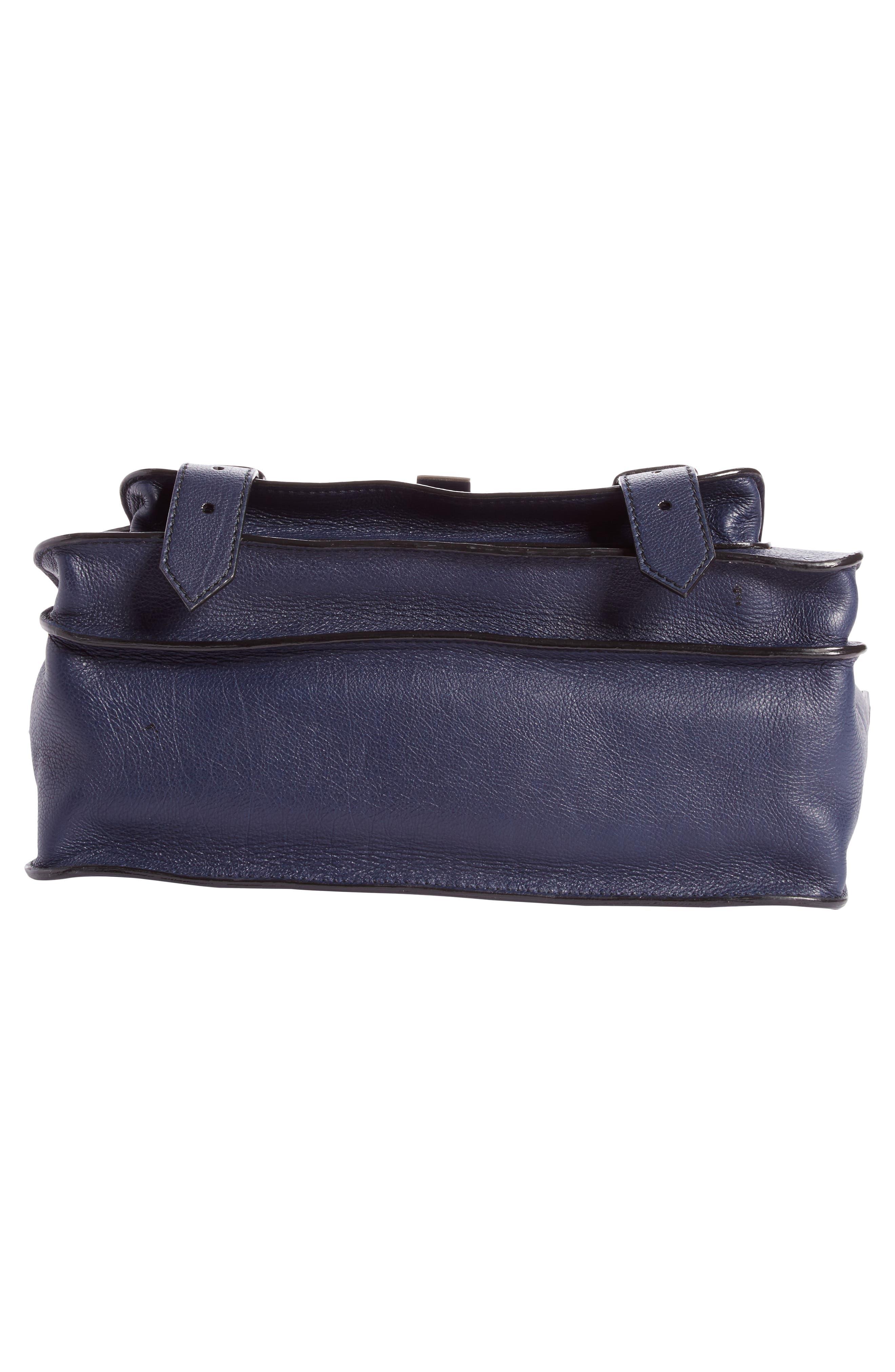 Medium PS1+ Grainy Leather Satchel,                             Alternate thumbnail 5, color,                             INDIGO