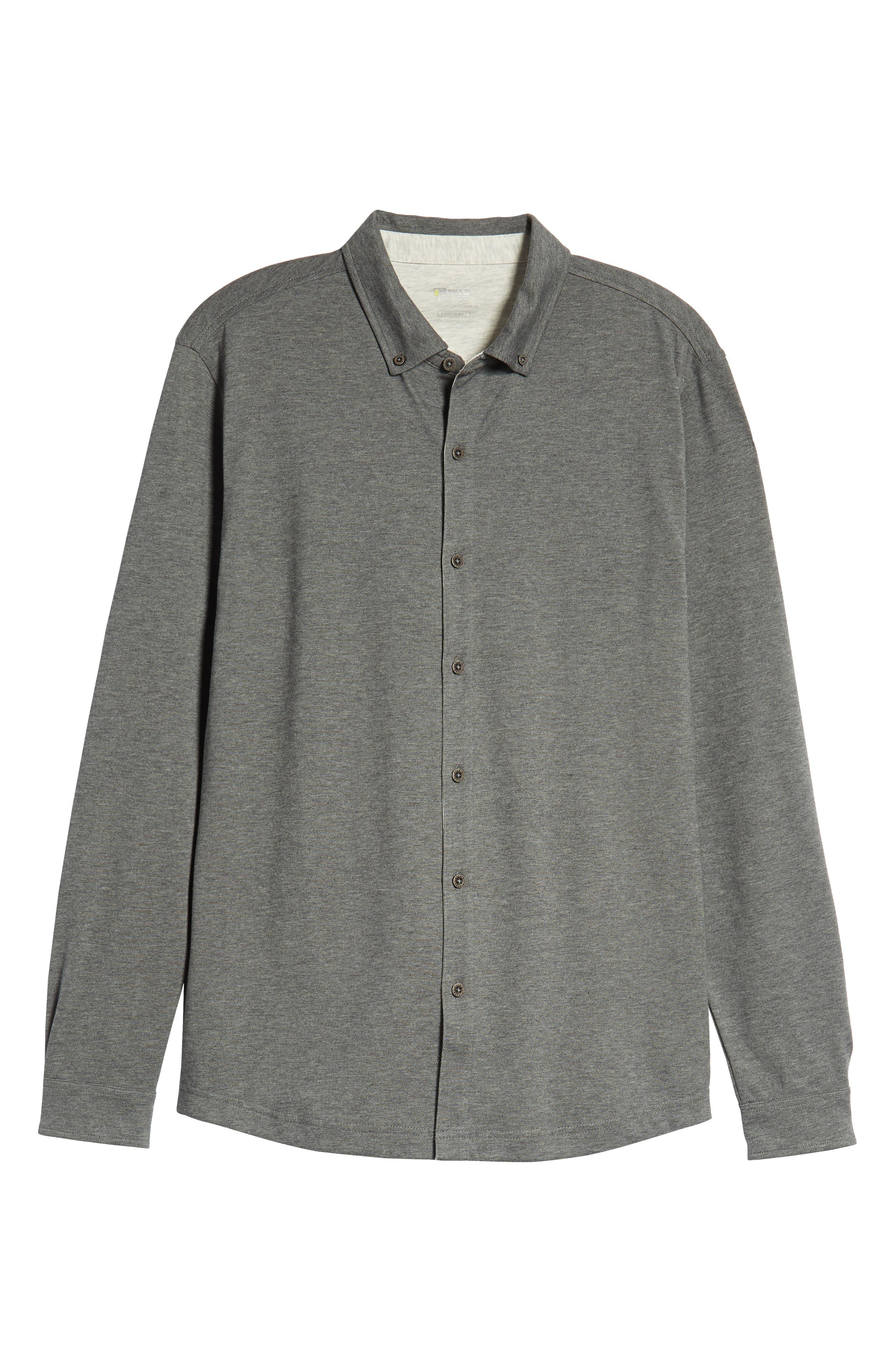 Rule 18 Brushed Regular Fit Knit Sport Shirt,                             Alternate thumbnail 6, color,                             020
