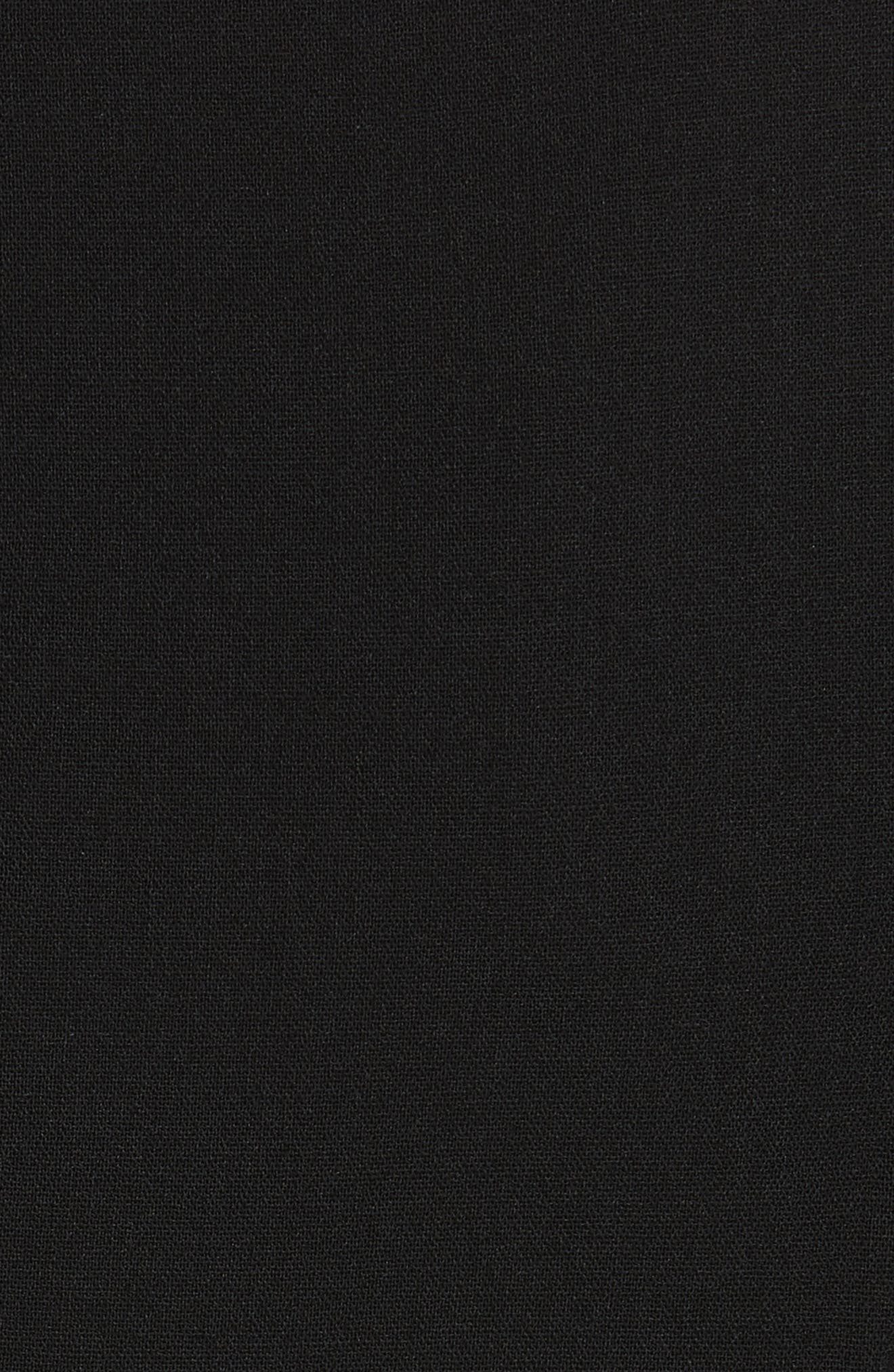 Draped Chiffon Sleeve Dress,                             Alternate thumbnail 5, color,                             001