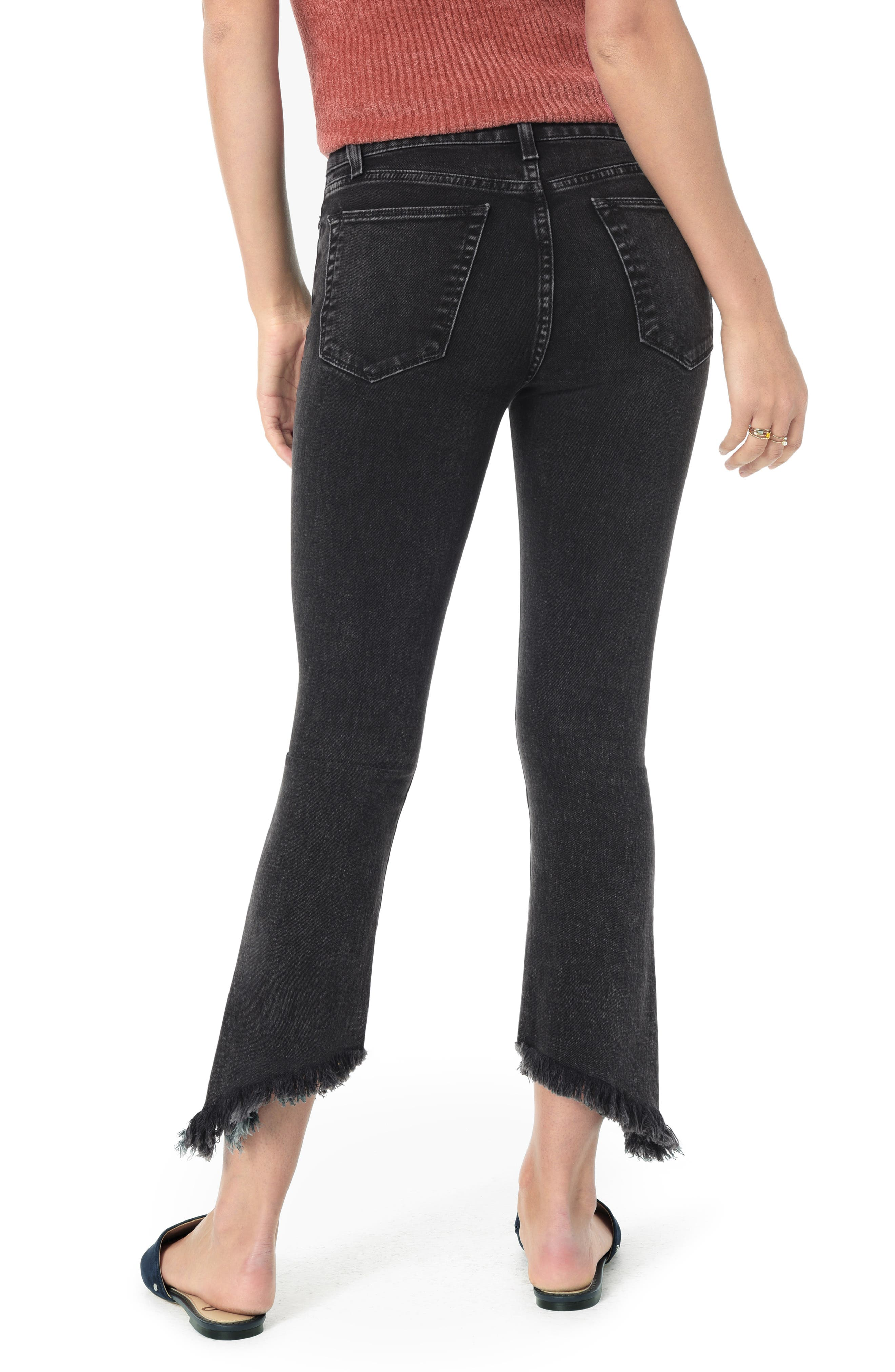 The Callie High Waist Frayed Crop Bootcut Jeans,                             Alternate thumbnail 2, color,                             AUDREY