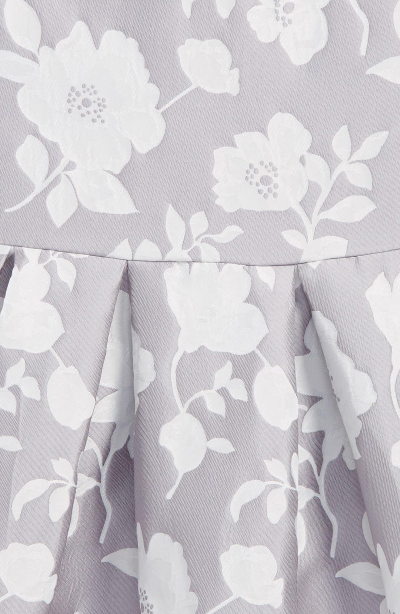 Floral Jacquard Dress,                             Alternate thumbnail 3, color,                             020