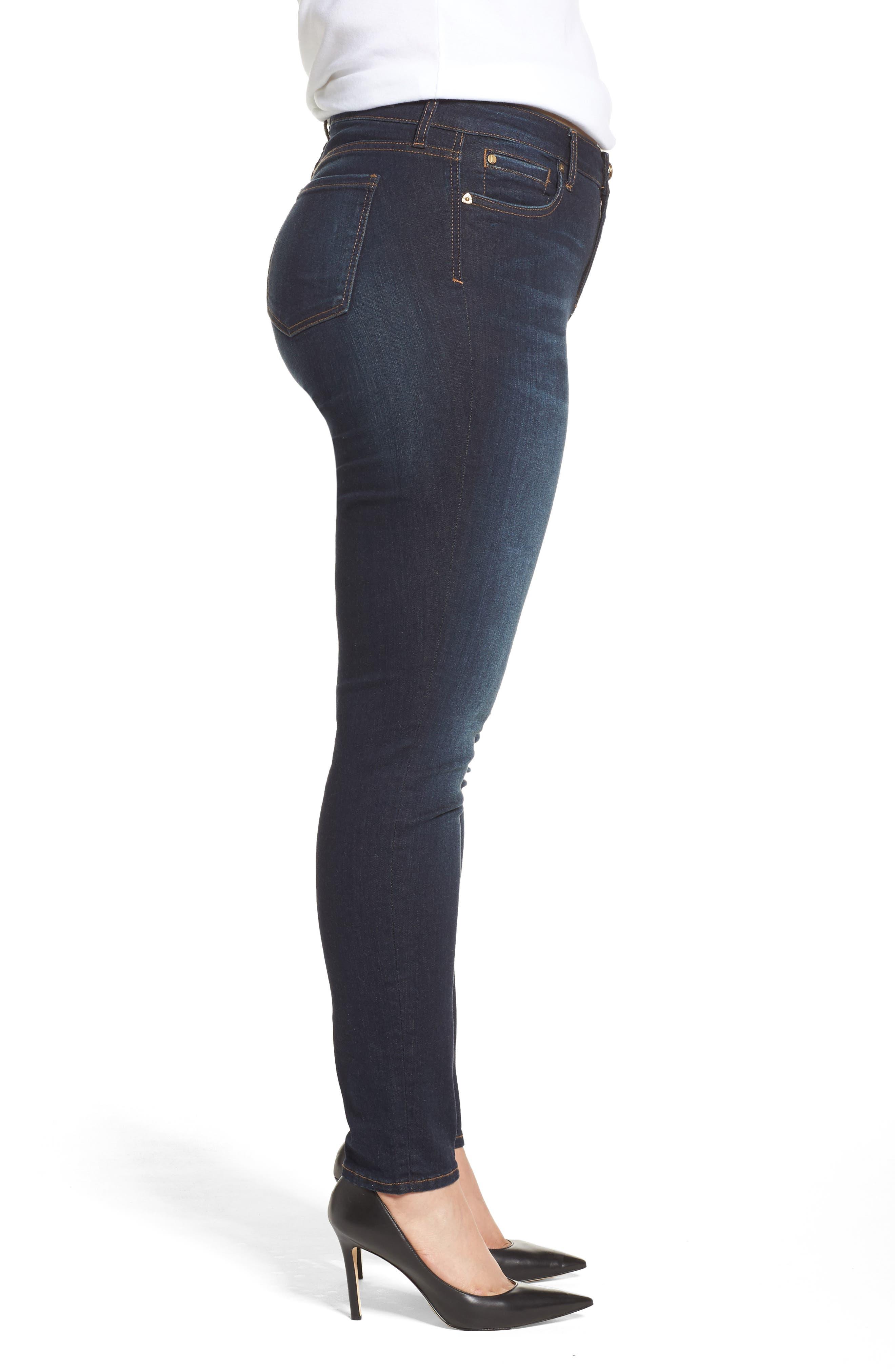Diana Skinny Jeans,                             Alternate thumbnail 3, color,                             BLINDING W/ EURO BASE WASH