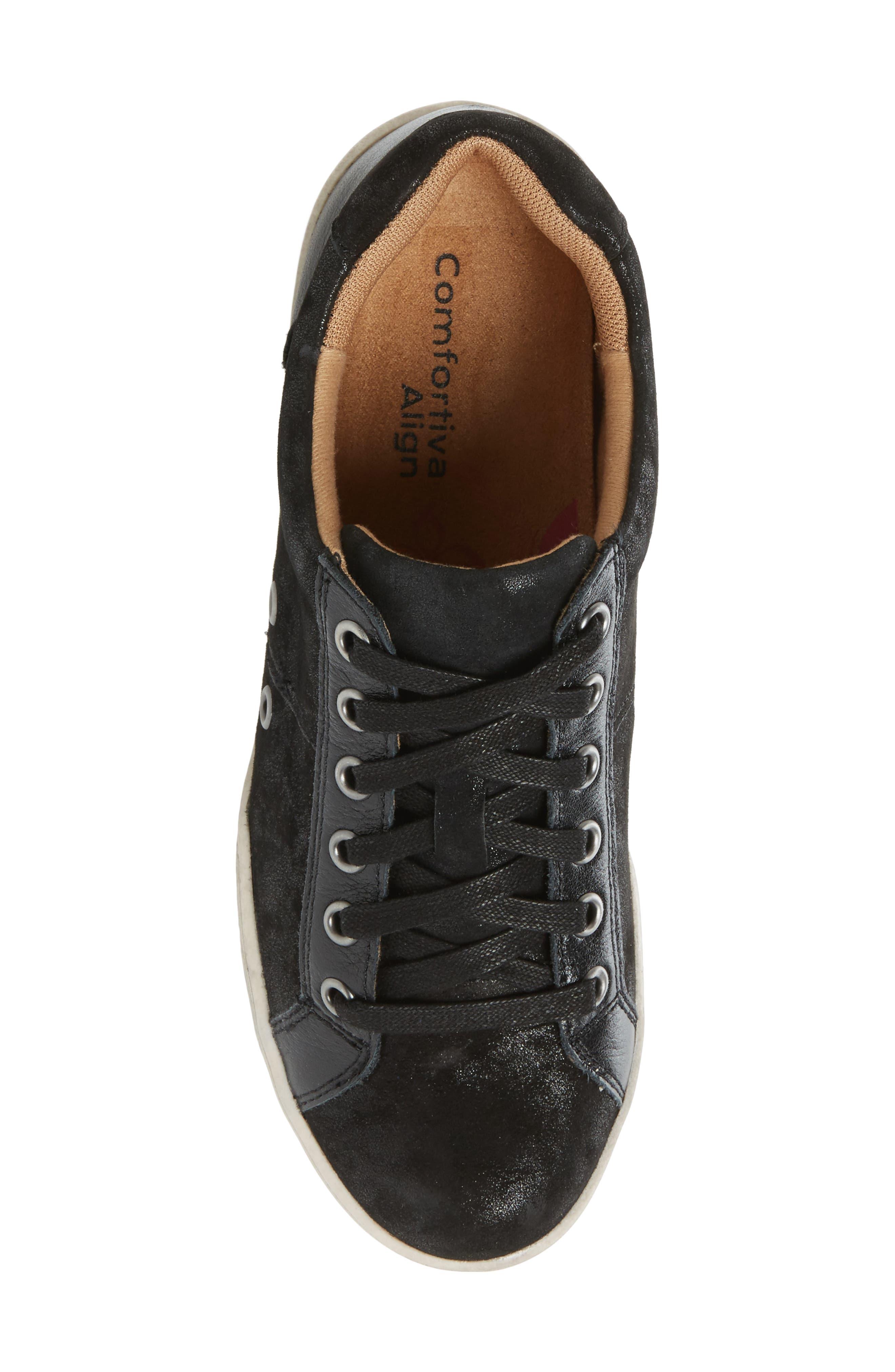 Lyons Low-Top Sneaker,                             Alternate thumbnail 5, color,                             BLACK SUEDE