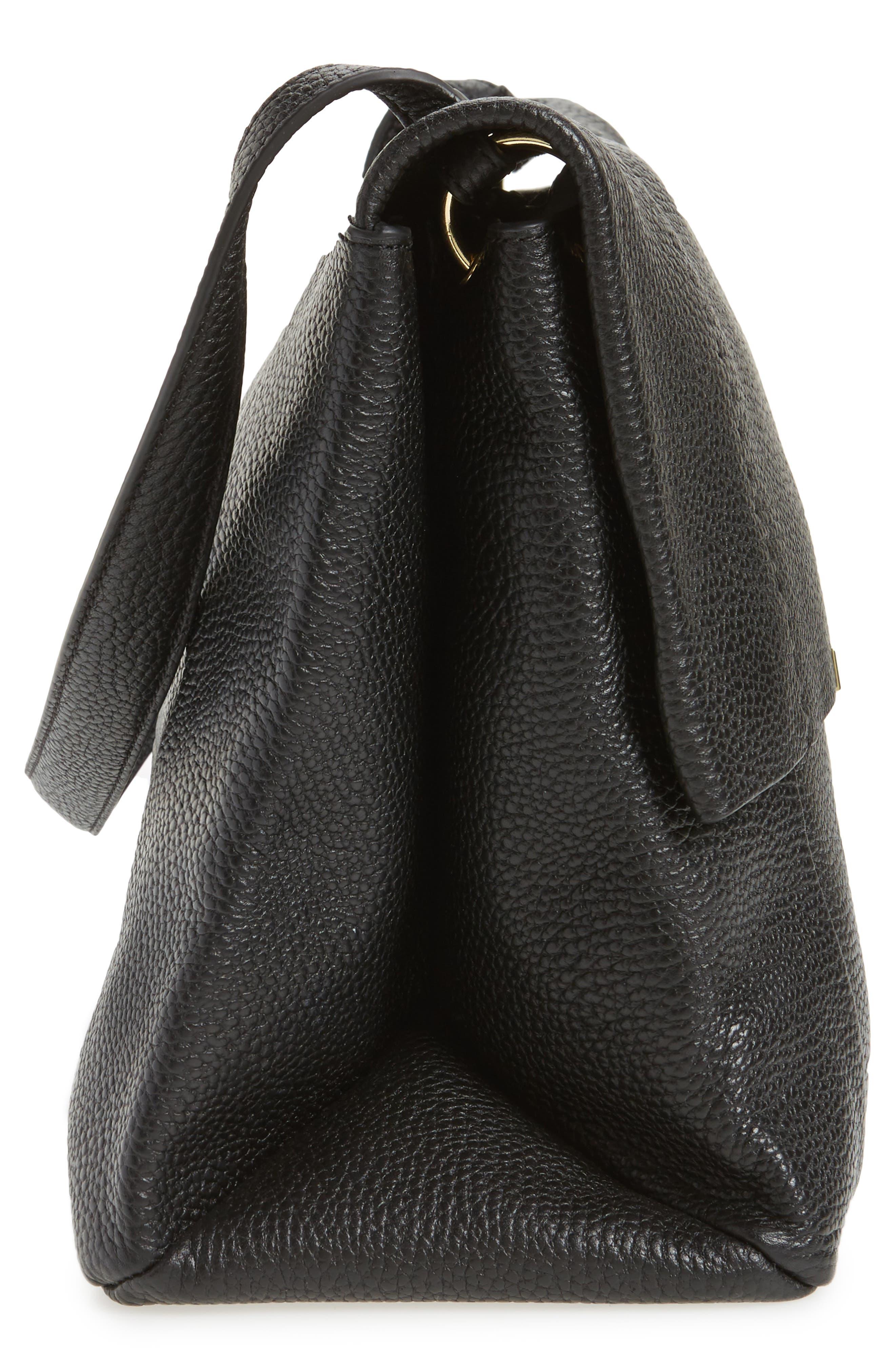 Proter Leather Shoulder Bag,                             Alternate thumbnail 5, color,                             001