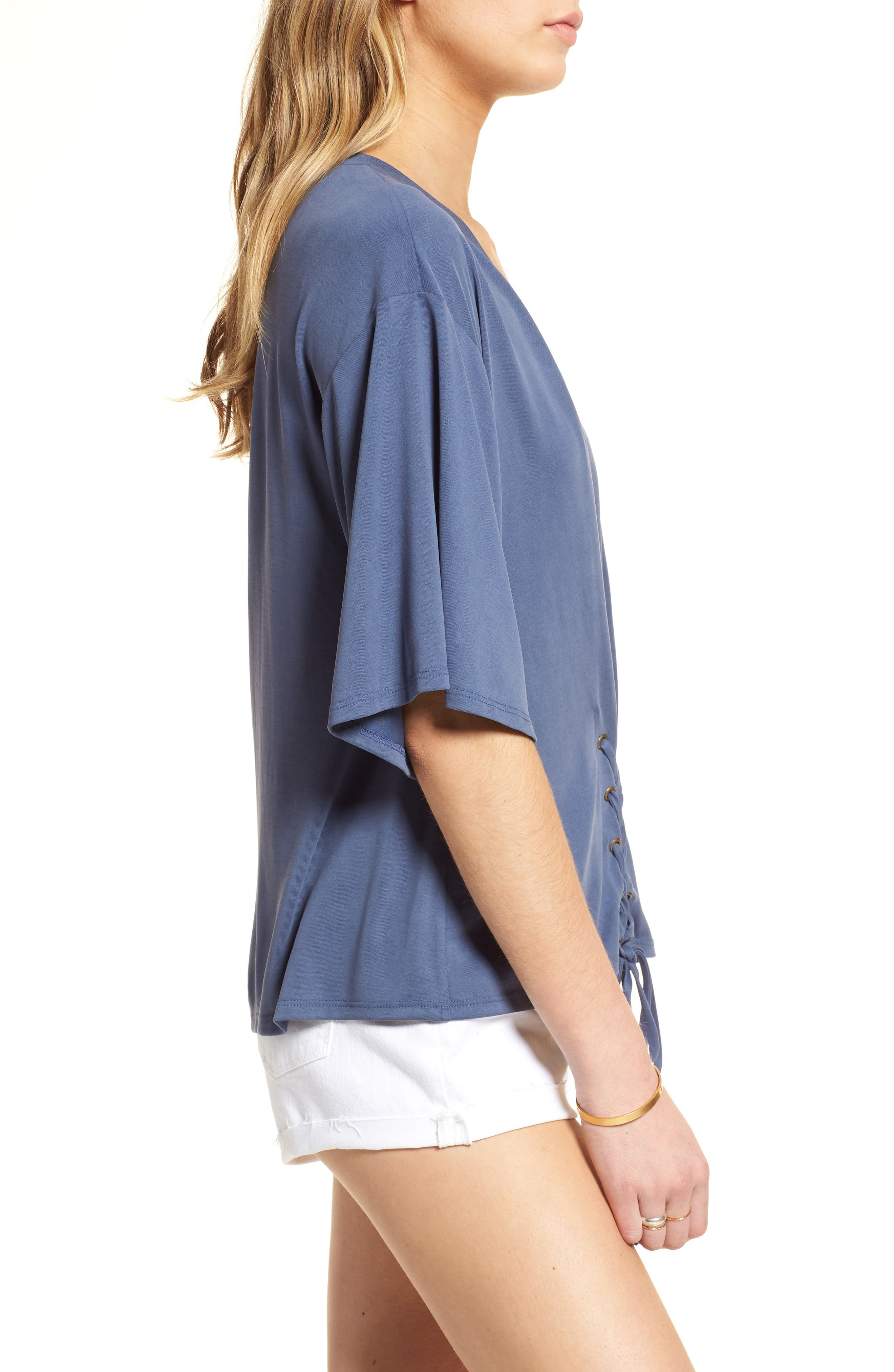 Lace-Up Tee,                             Alternate thumbnail 7, color,