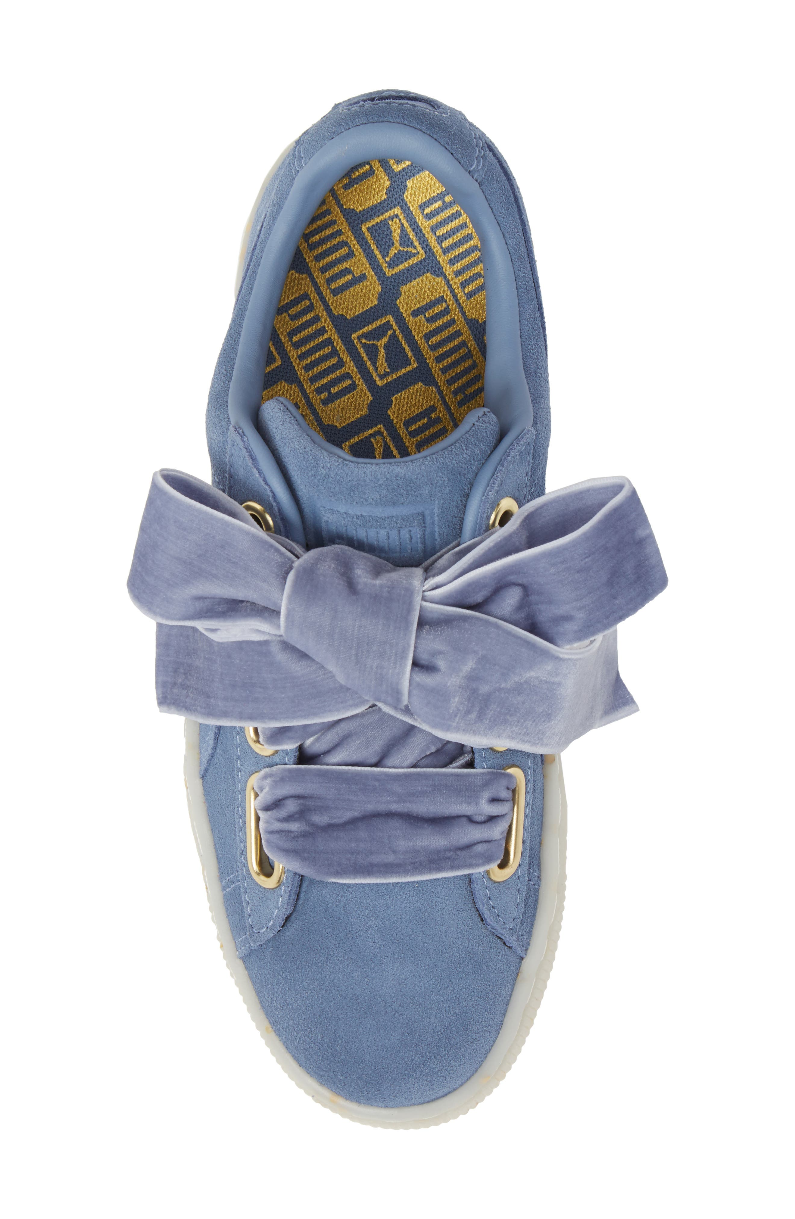 Suede - Heart Sneaker,                             Alternate thumbnail 34, color,